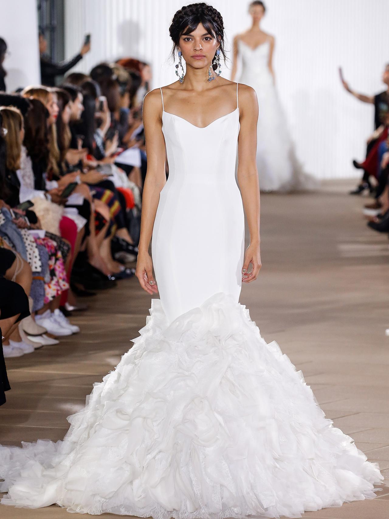 Ines Di Santo spaghetti strap mermaid wedding dress fall 2020