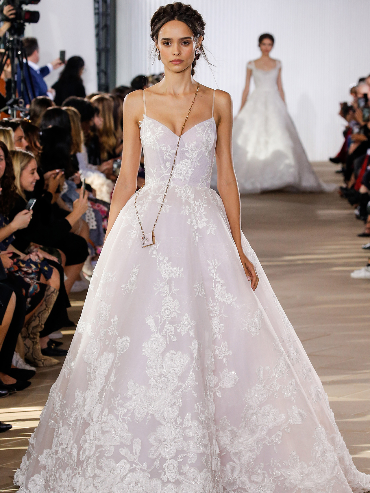 Ines Di Santo spaghetti strap ball gown wedding dress fall 2020