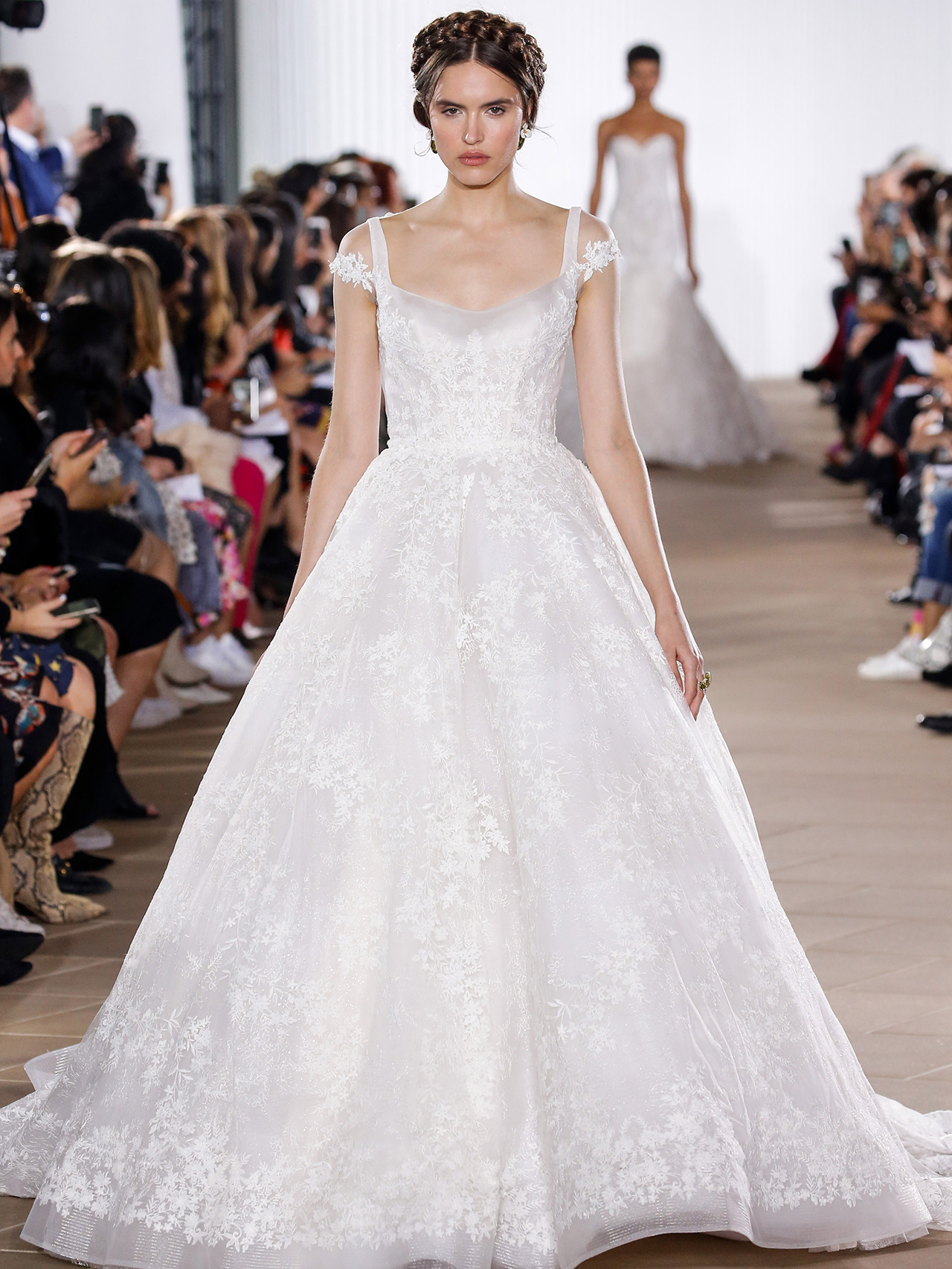 Ines Di Santo off-the-shoulder ball gown wedding dress fall 2020