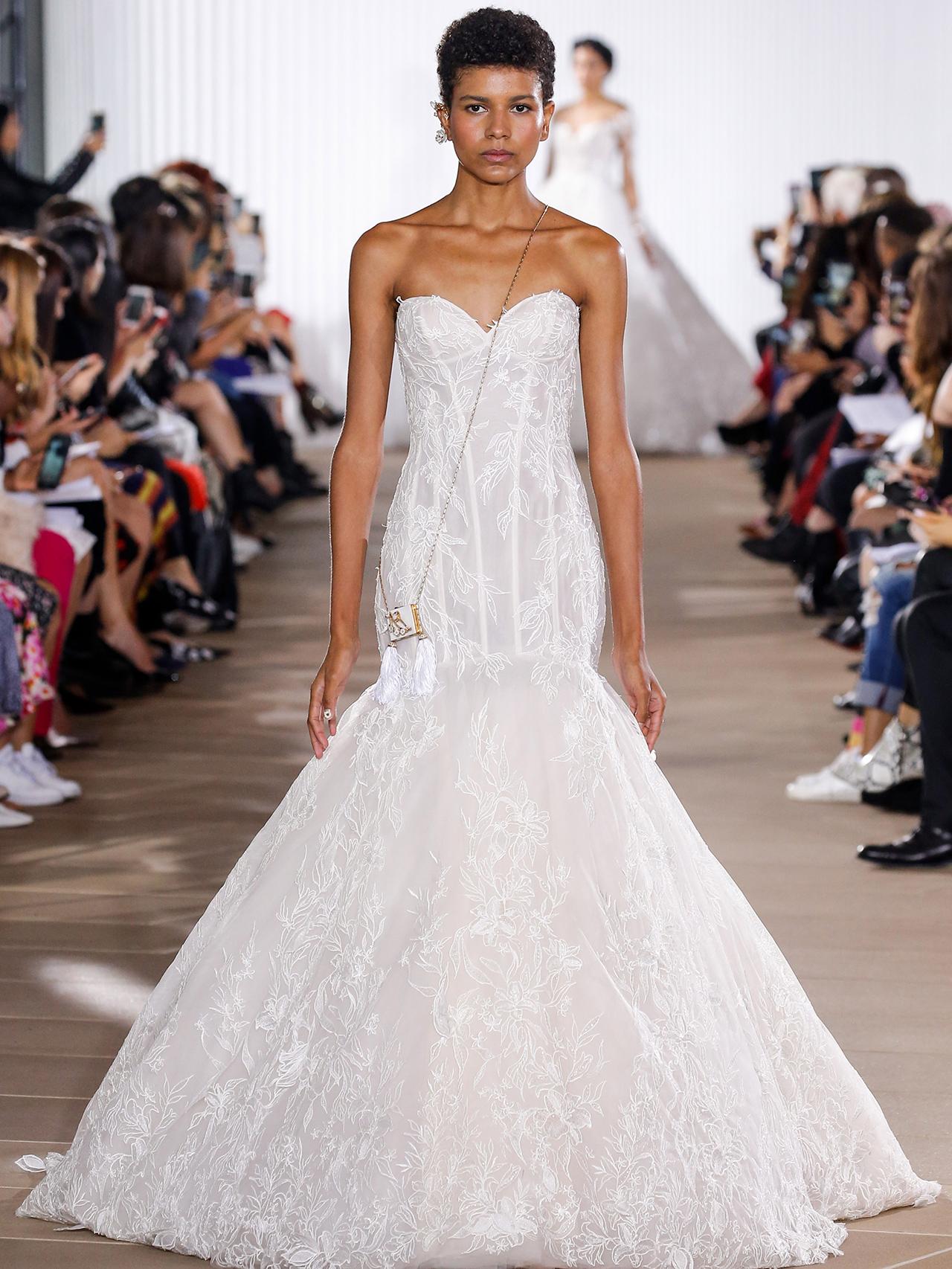 Ines Di Santo strapless trumpet wedding dress fall 2020