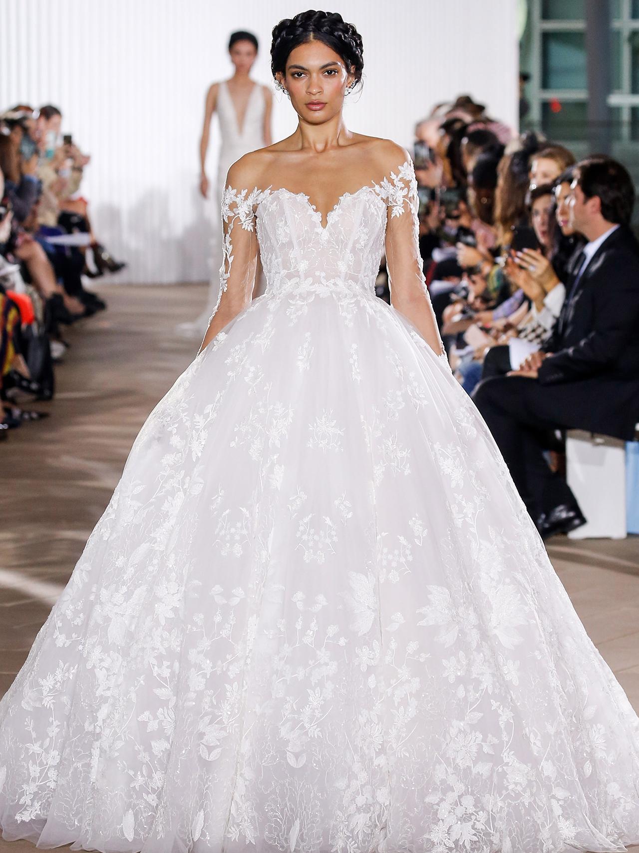 Ines Di Santo ball gown floral applique wedding dress fall 2020