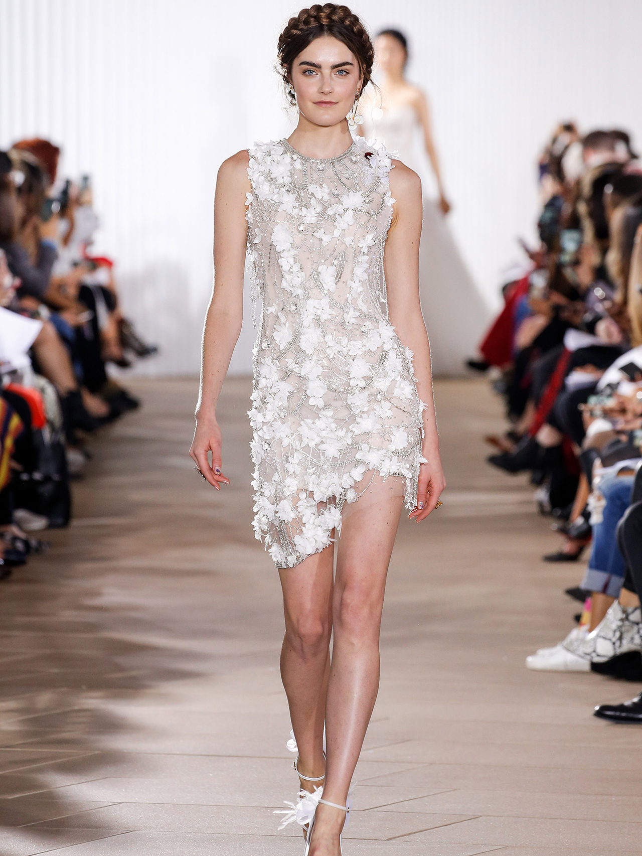 Ines Di Santo floral applique short wedding dress fall 2020