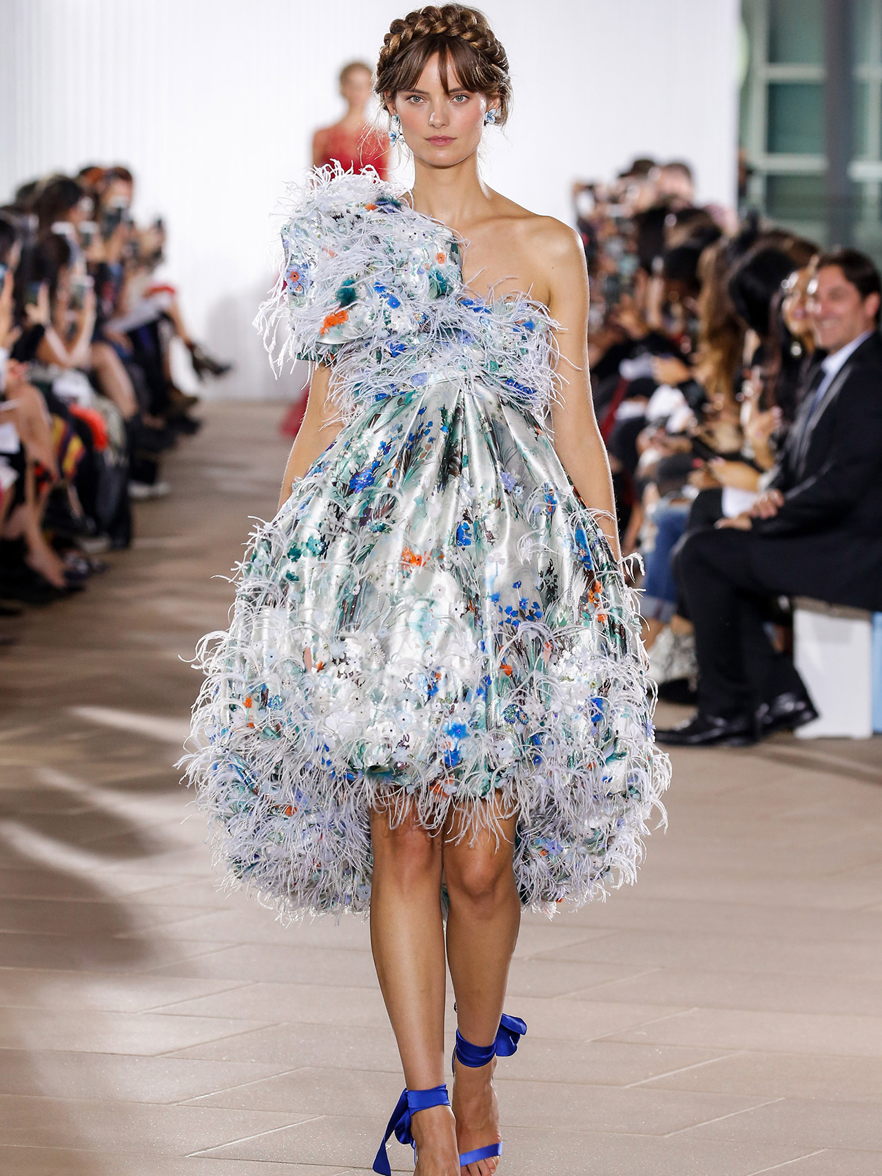 Ines Di Santo one-shoulder fringe wedding dress fall 2020