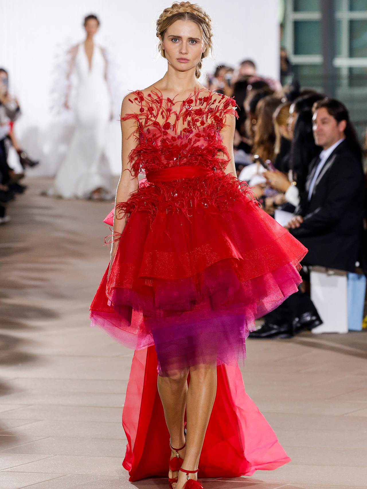 Ines Di Santo full-high-low skirt strapless wedding dress fall 2020
