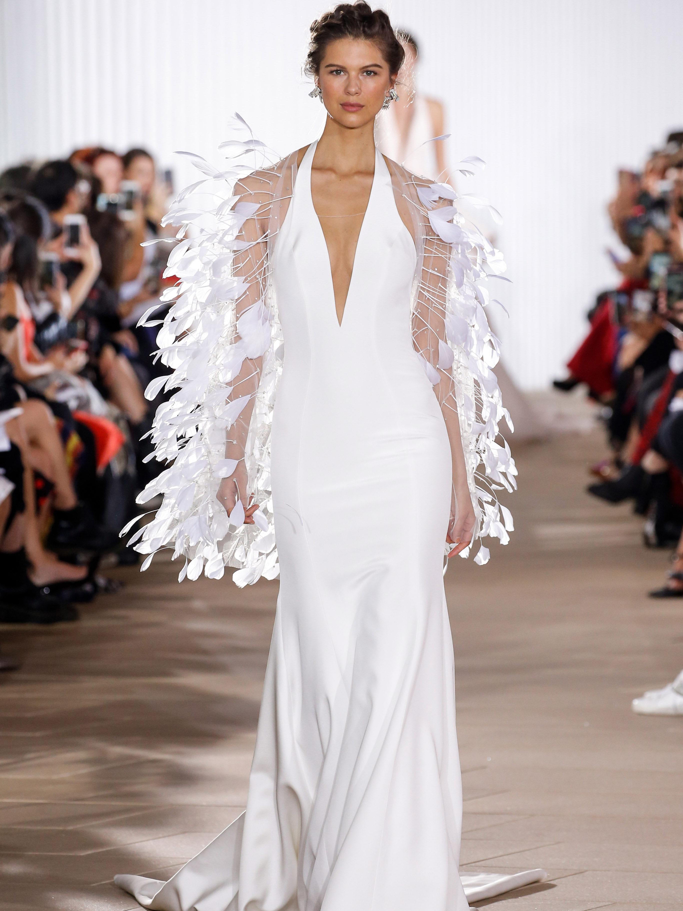 Ines Di Santo v-neck sheath wedding dress fall 2020