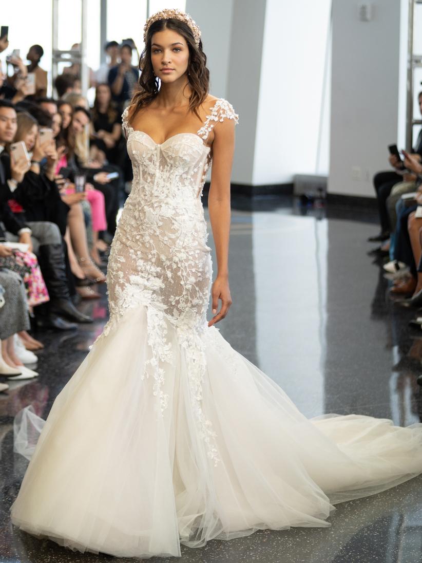 berta sweetheart mermaid tulle wedding dress fall 2020