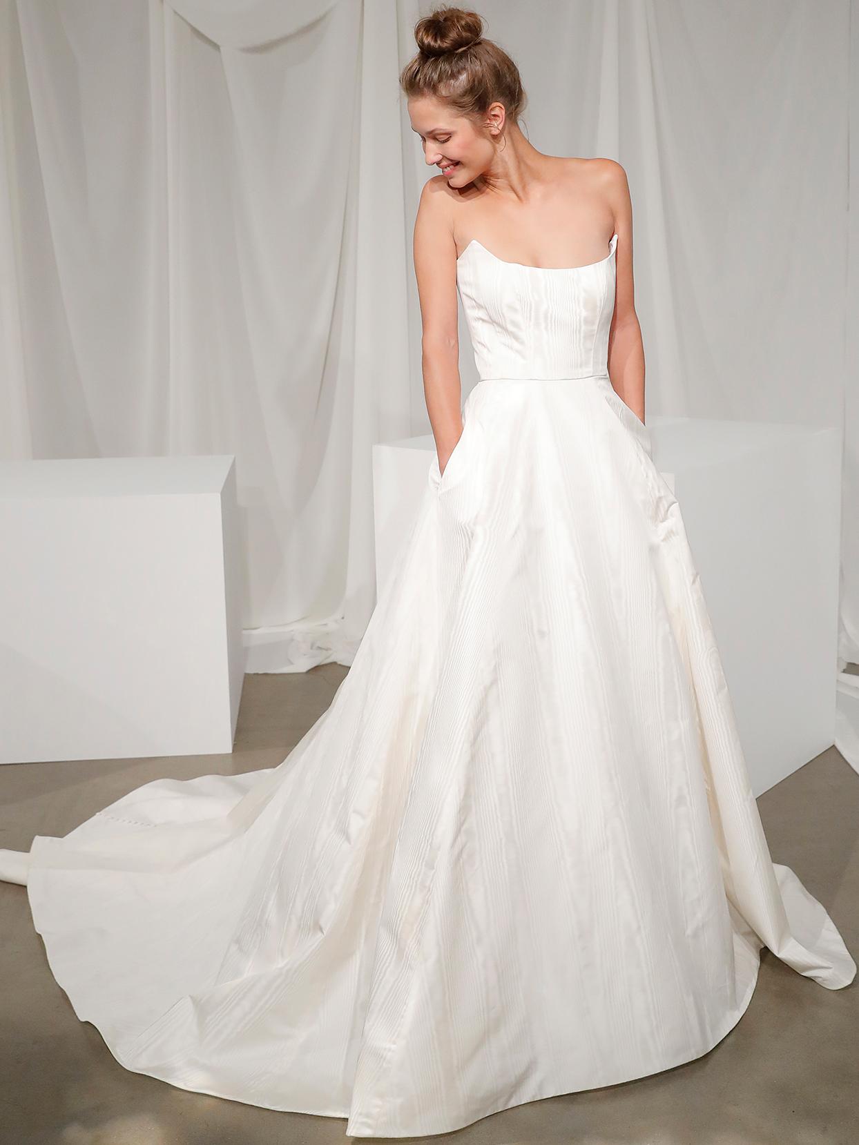 amsale strapless ball gown wedding dress fall 2020