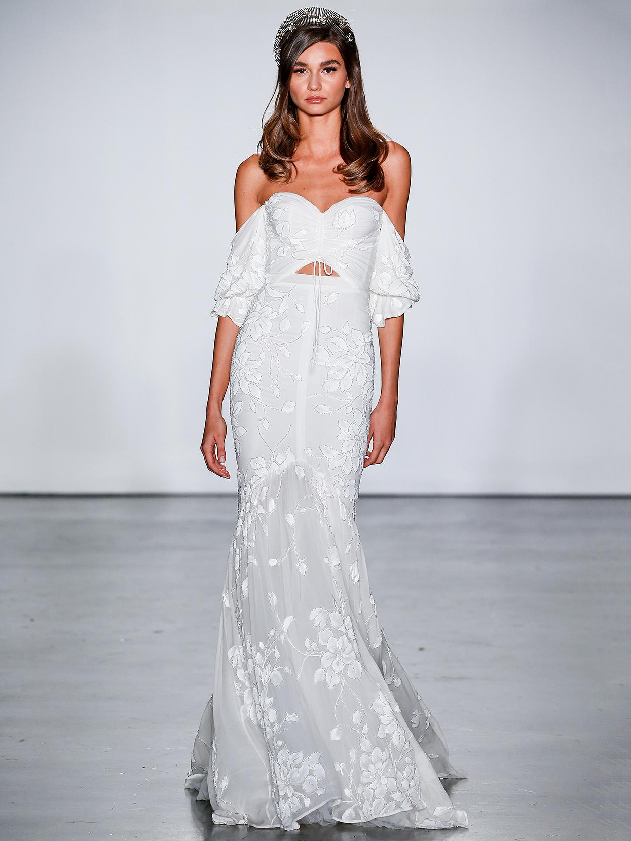 Inbal Dror sweetheart off-the-shoulder cutout wedding dress fall 2020