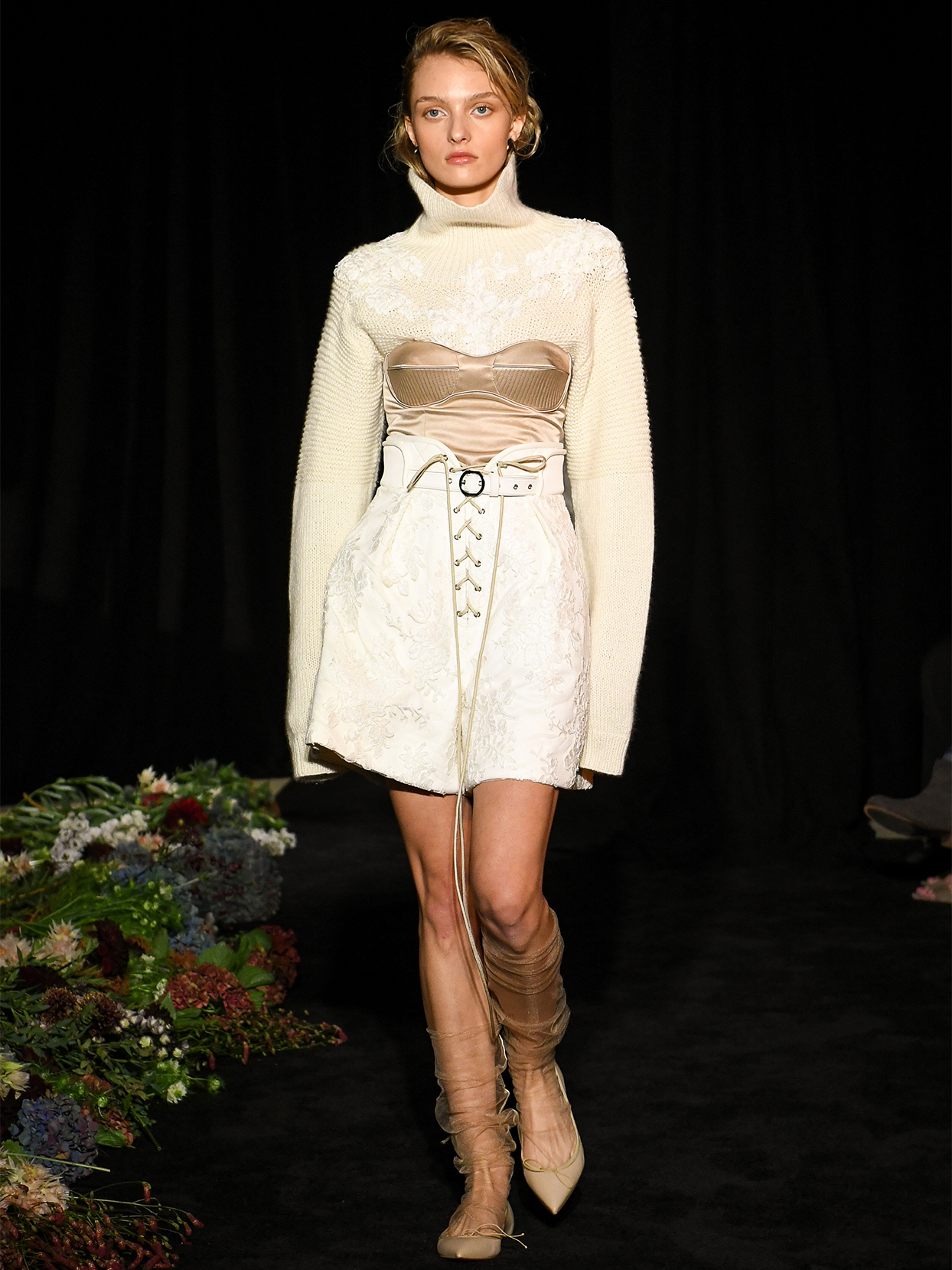 danielle frankel sweater exposed boning short wedding dress fall 2020