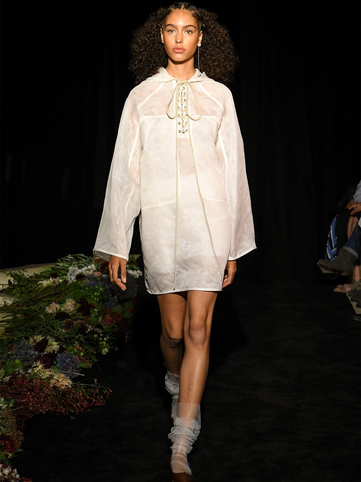 danielle frankel sheer jacket short wedding dress fall 2020