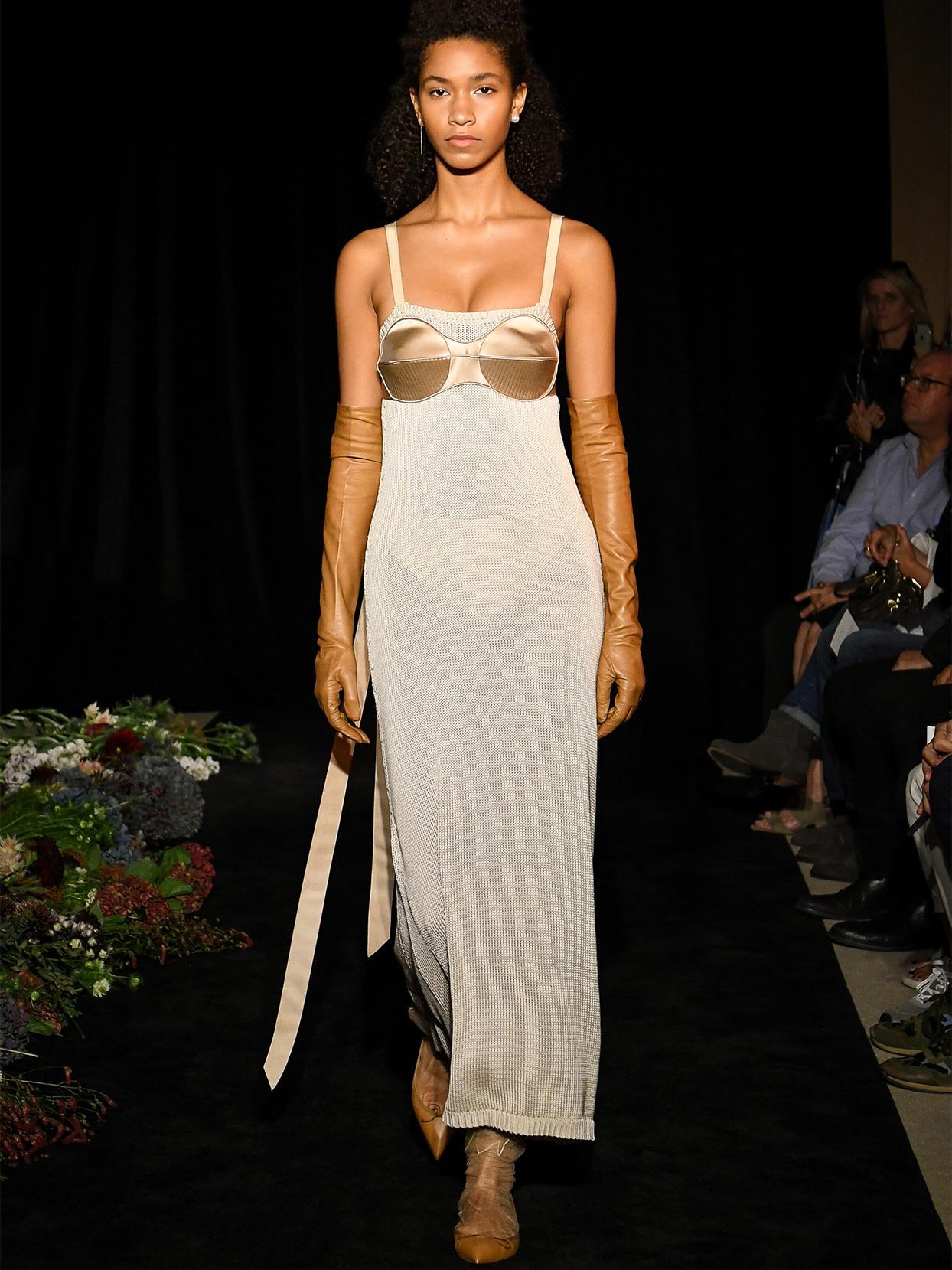 danielle frankel thin strap sweater dress wedding dress fall 2020