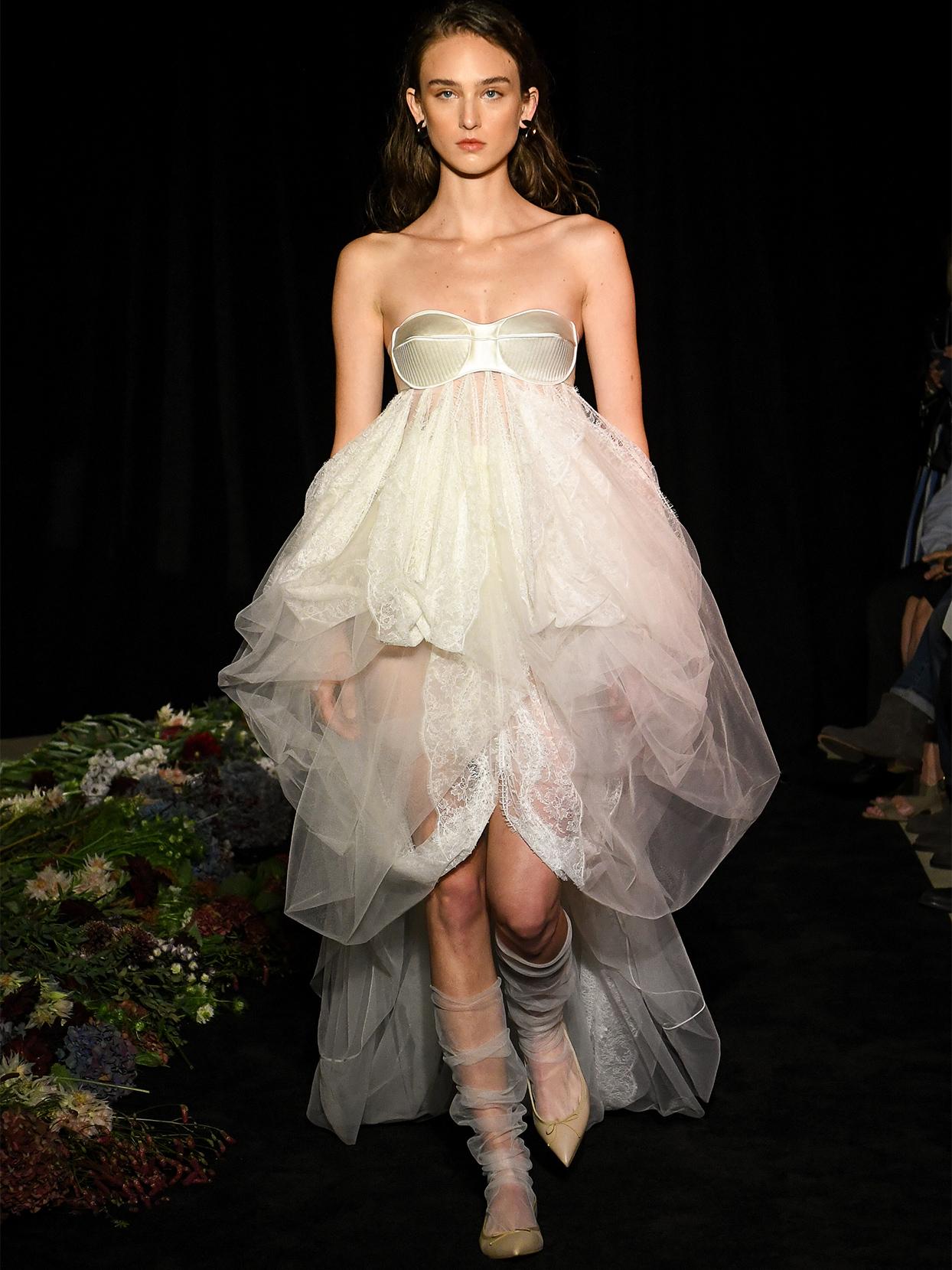 danielle frankel exposed boning tulle wedding dress fall 2020