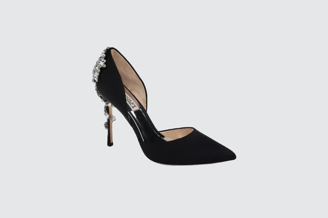 "Badgley Mischka ""Vogue"" Pointed Toe Satin High-Heel Pumps"