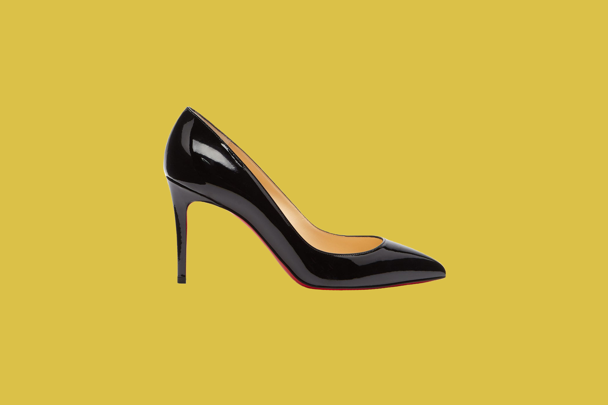 """Christian Louboutin """"Pigalle 85"""" Patent Leather Pumps"""