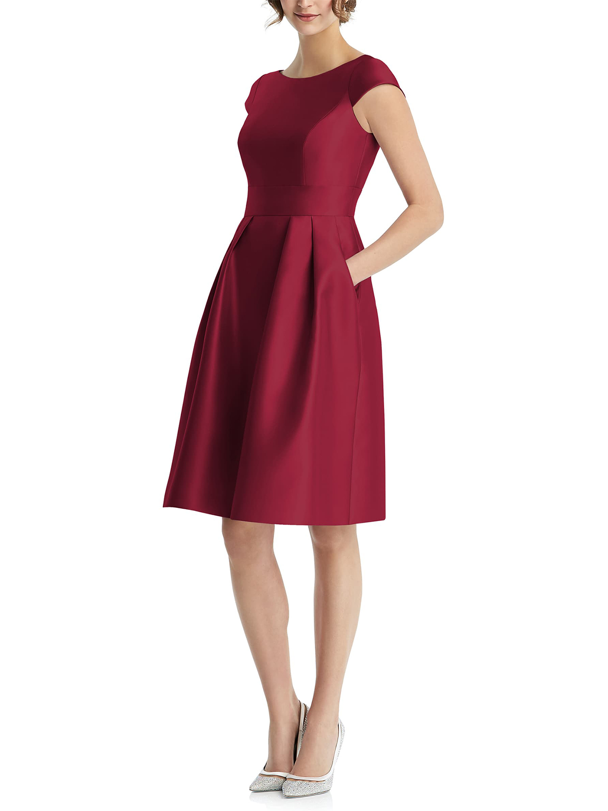 Alfred Sung Cap-Sleeve Cocktail Dress