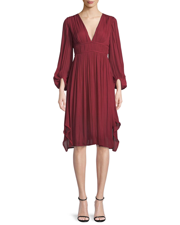 Halston Heritage Ruched Dress