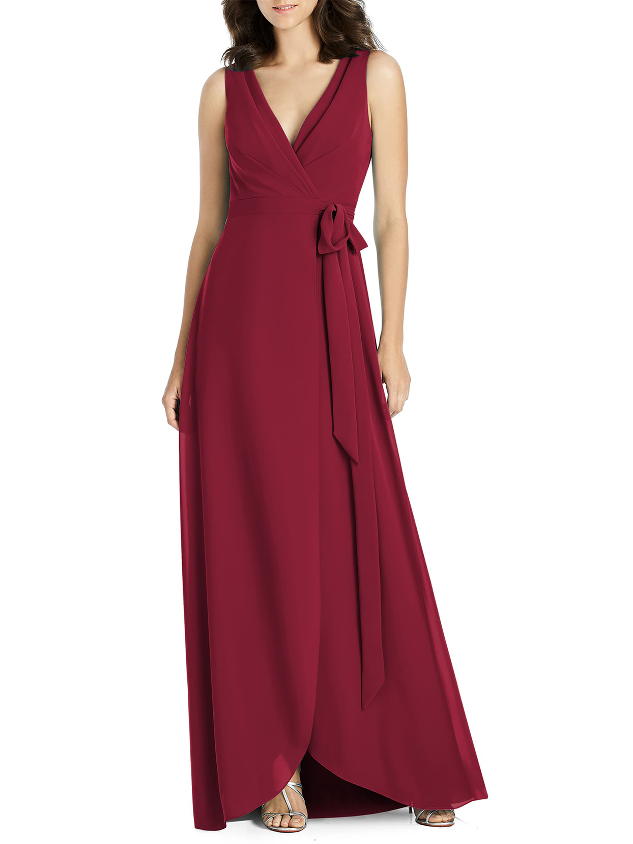 Jenny Packham Chiffon Wrap Evening Dress