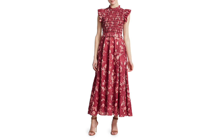 """Sea """"Monet"""" Smocked Maxi Dress"""