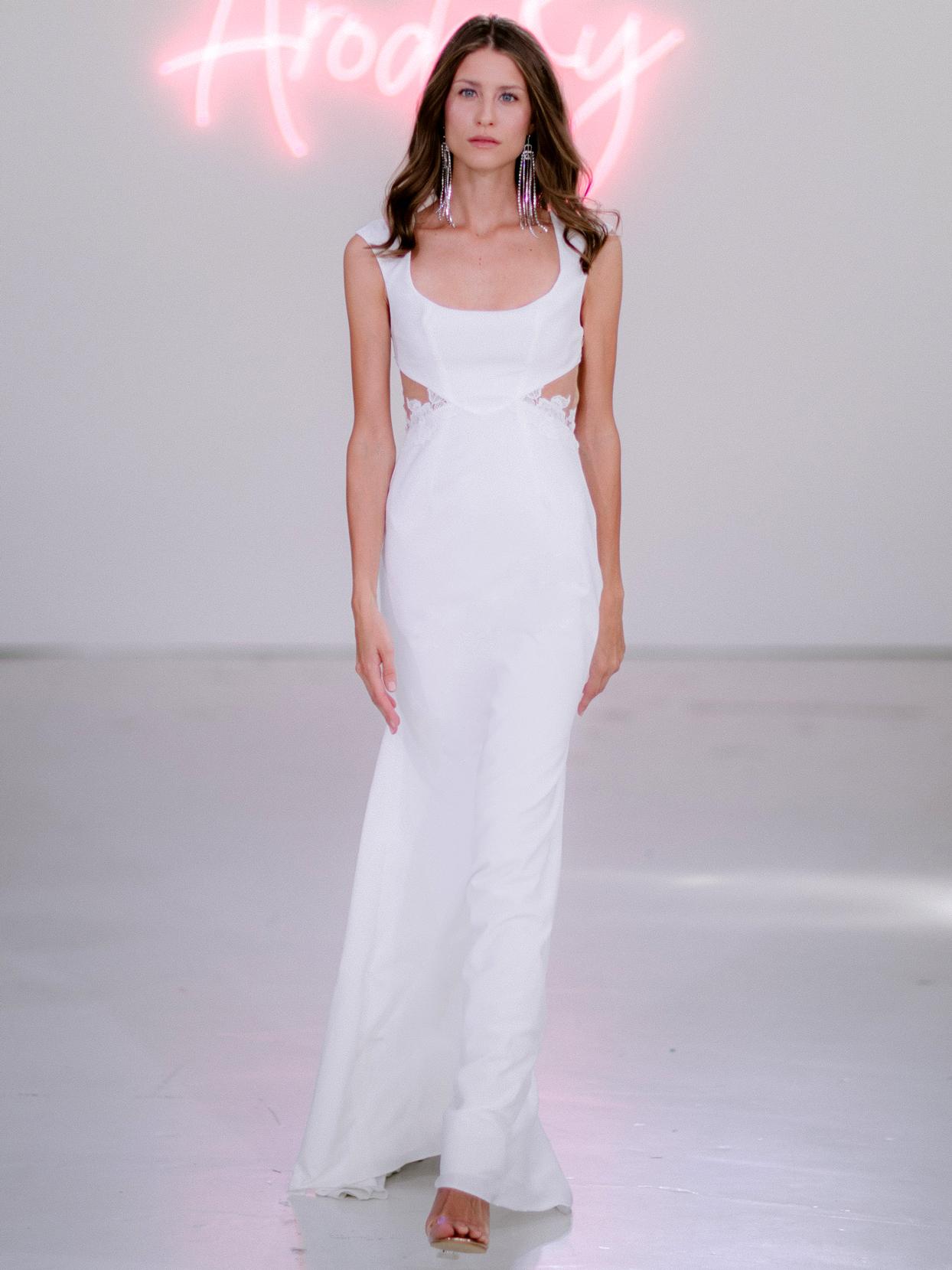 Rime Arodaky X The Mews Bridal side cut-outs sleeveless wedding dress fall 2020