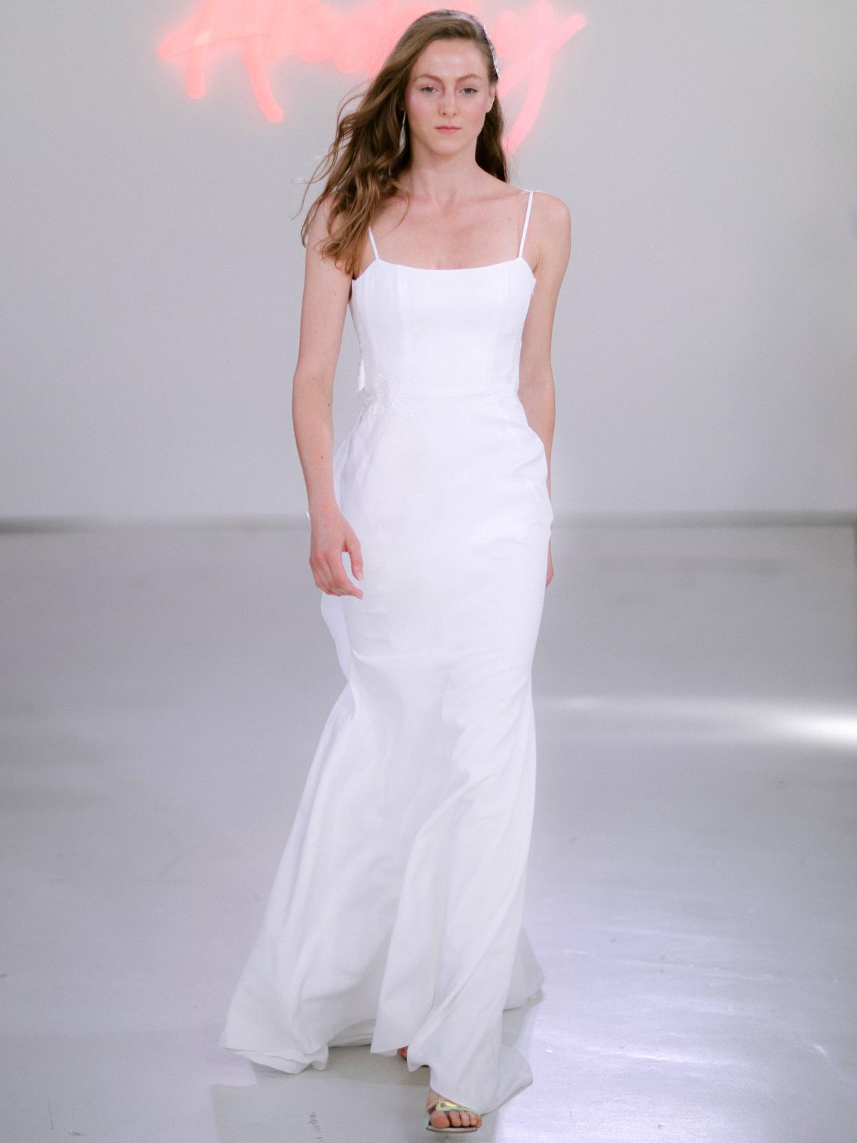 Rime Arodaky X The Mews Bridal spaghetti strap square neckline wedding dress fall 2020
