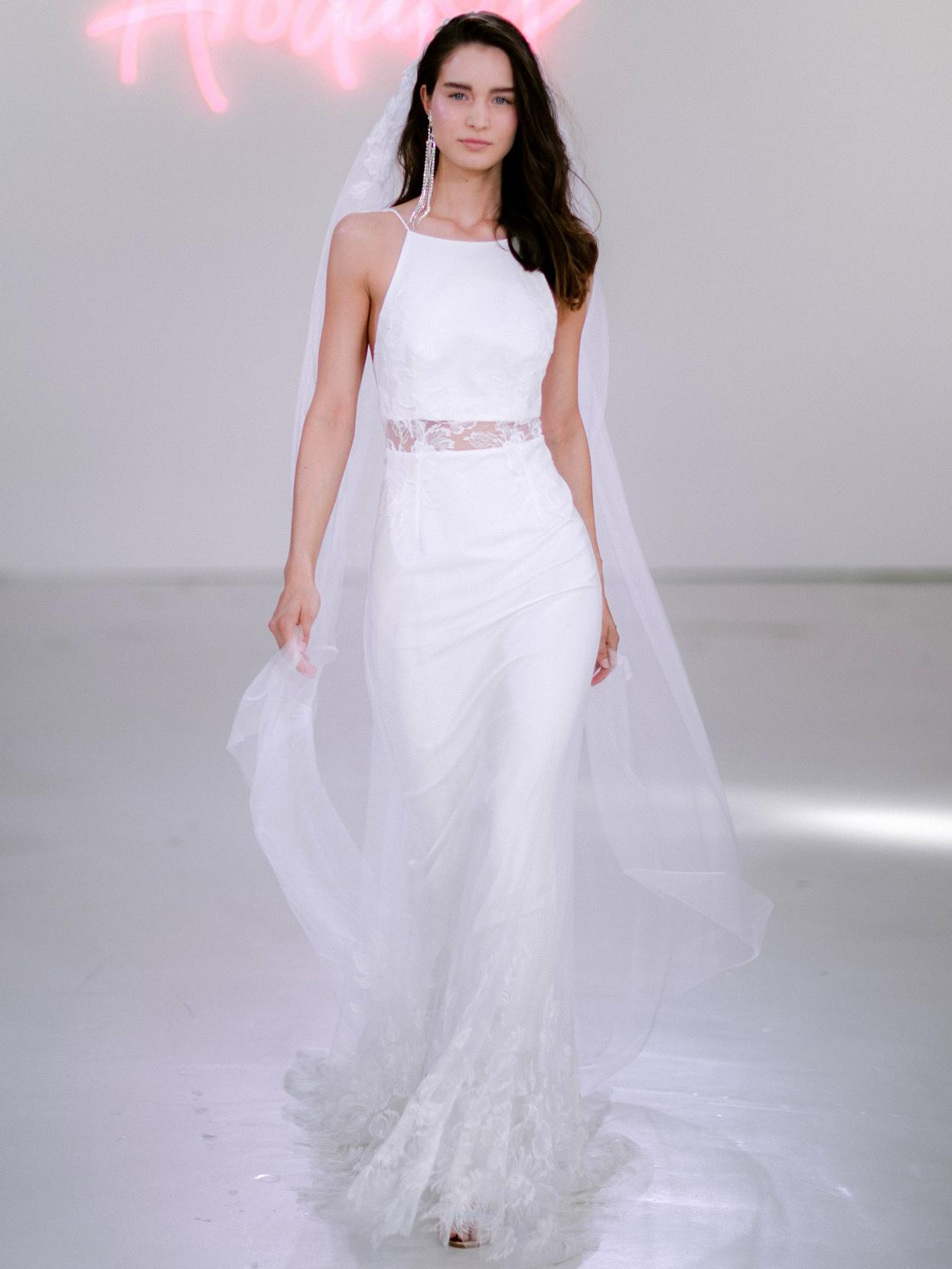 Rime Arodaky X The Mews Bridal halter top lace detailed skirt wedding dress fall 2020