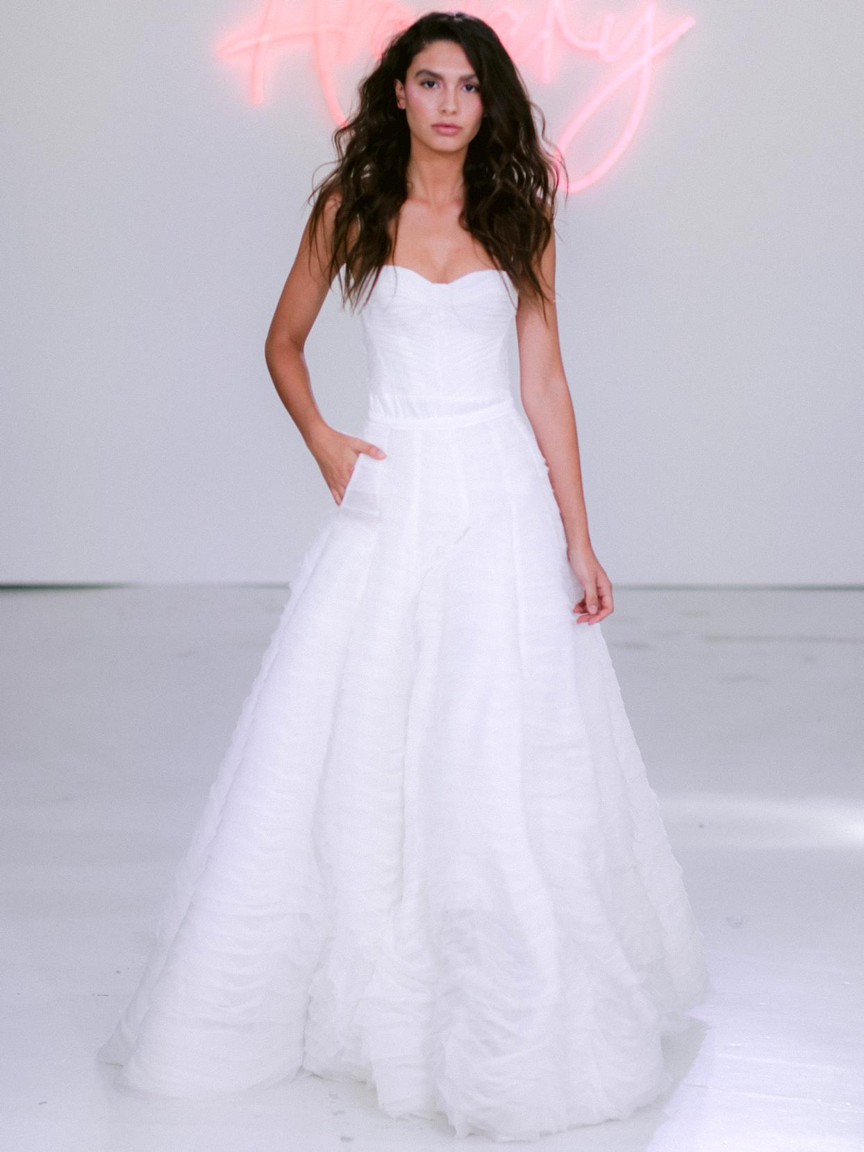 Rime Arodaky X The Mews strapless corset semi-sweetheart Bridal wedding dress fall 2020