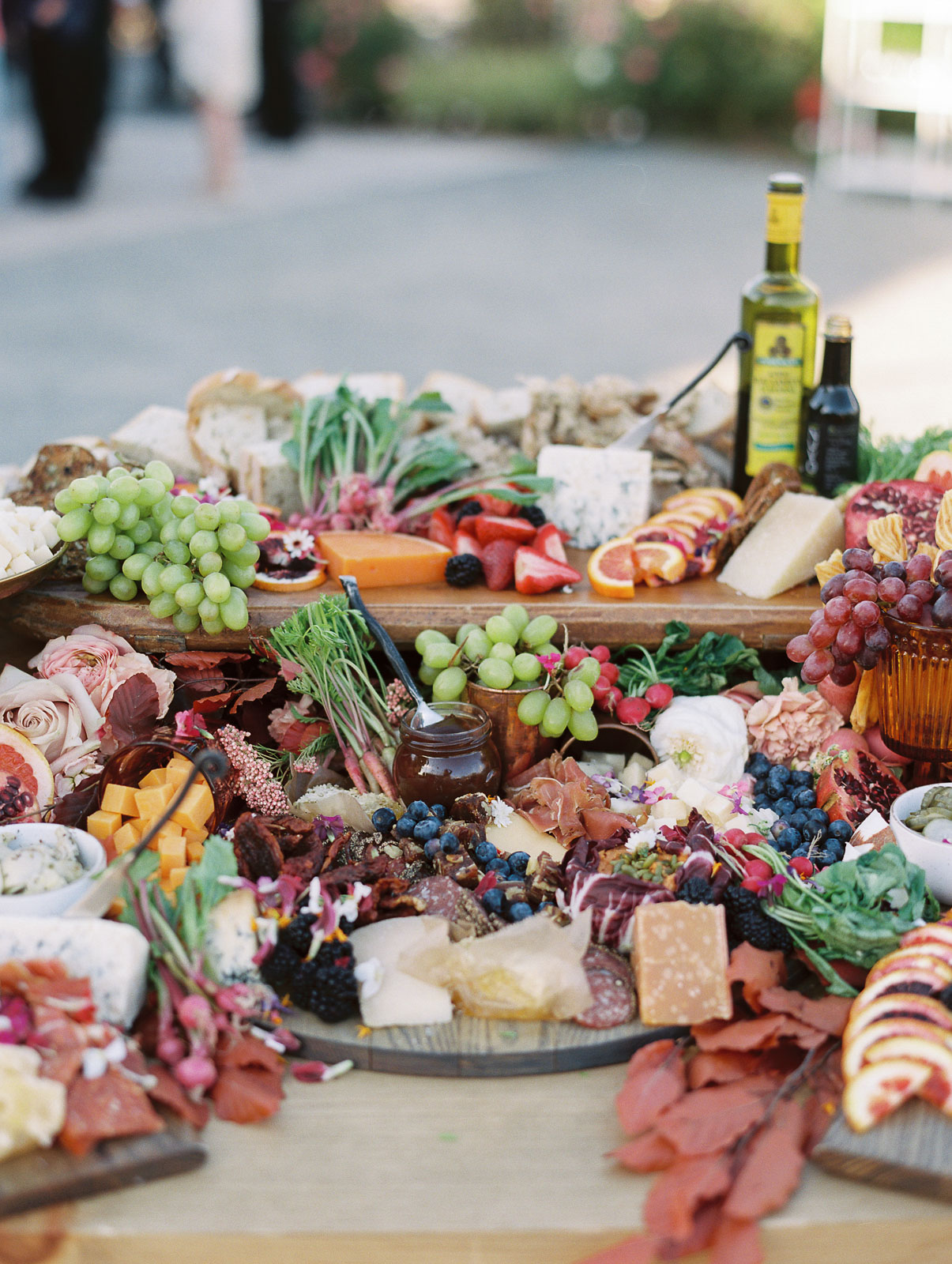 cheese fruit and meat grazing table