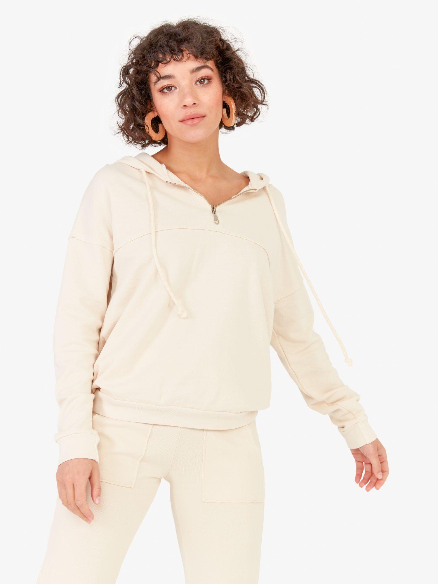 MATE the Label Sweatshirt and Sweatpants Set in Bone