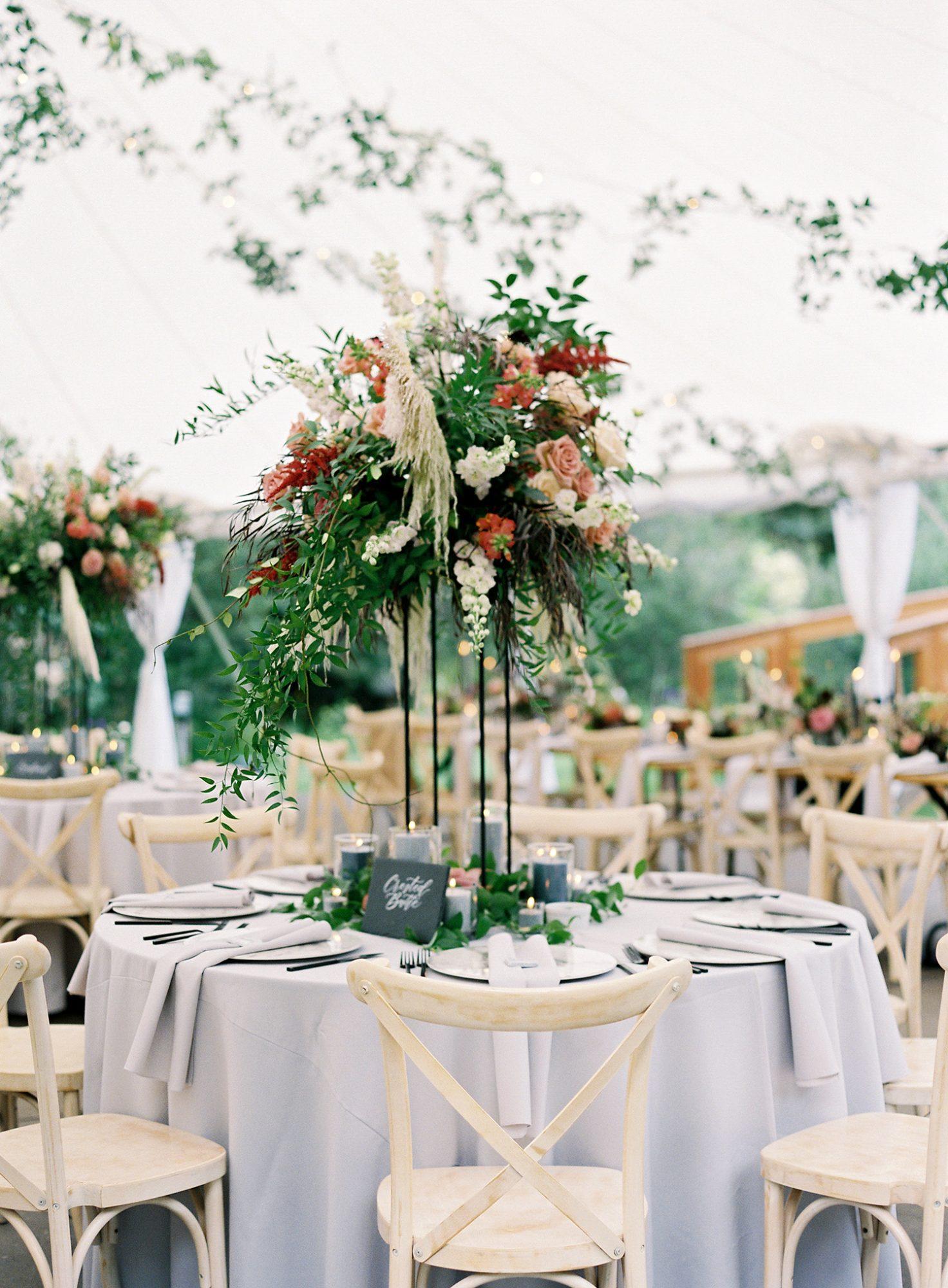 Casey Andrew Wedding Reception Round Table