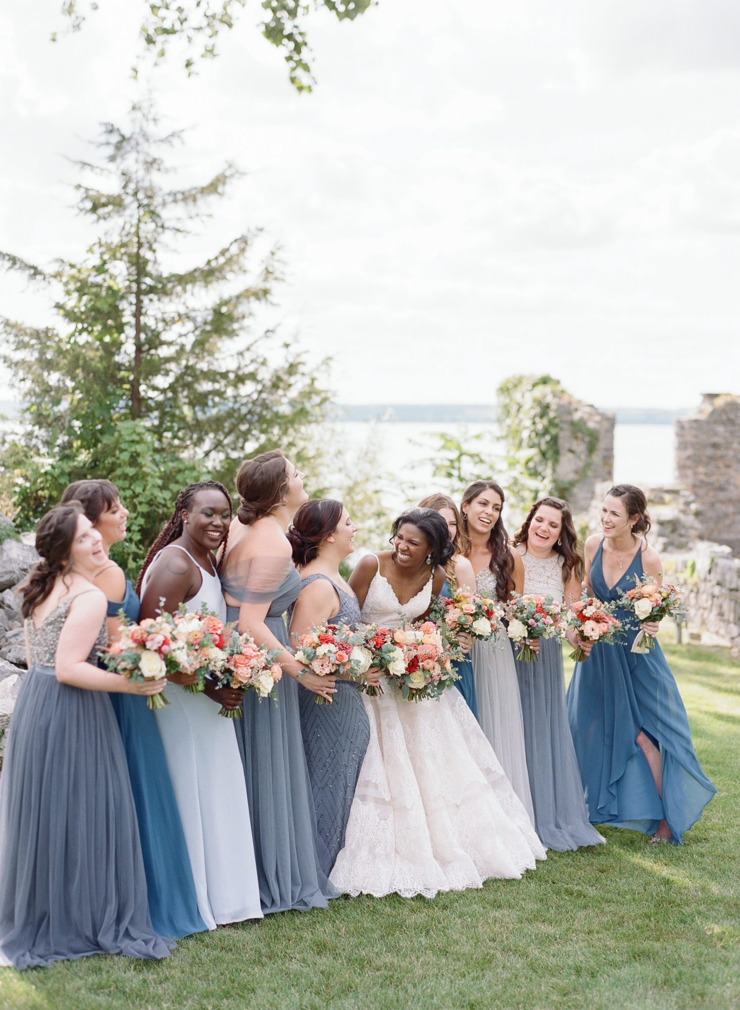 charlene jeremy wedding bridal party portrait