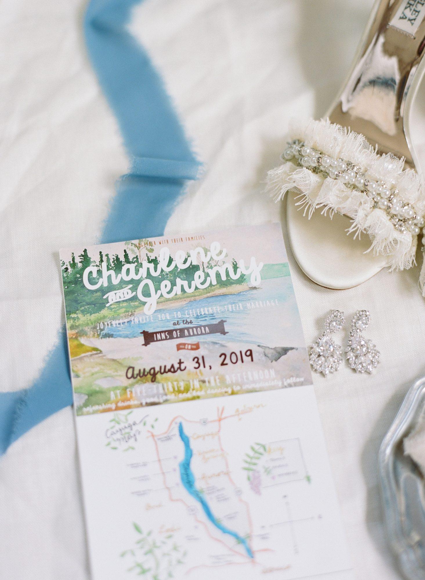 charlene jeremy wedding invitations with map