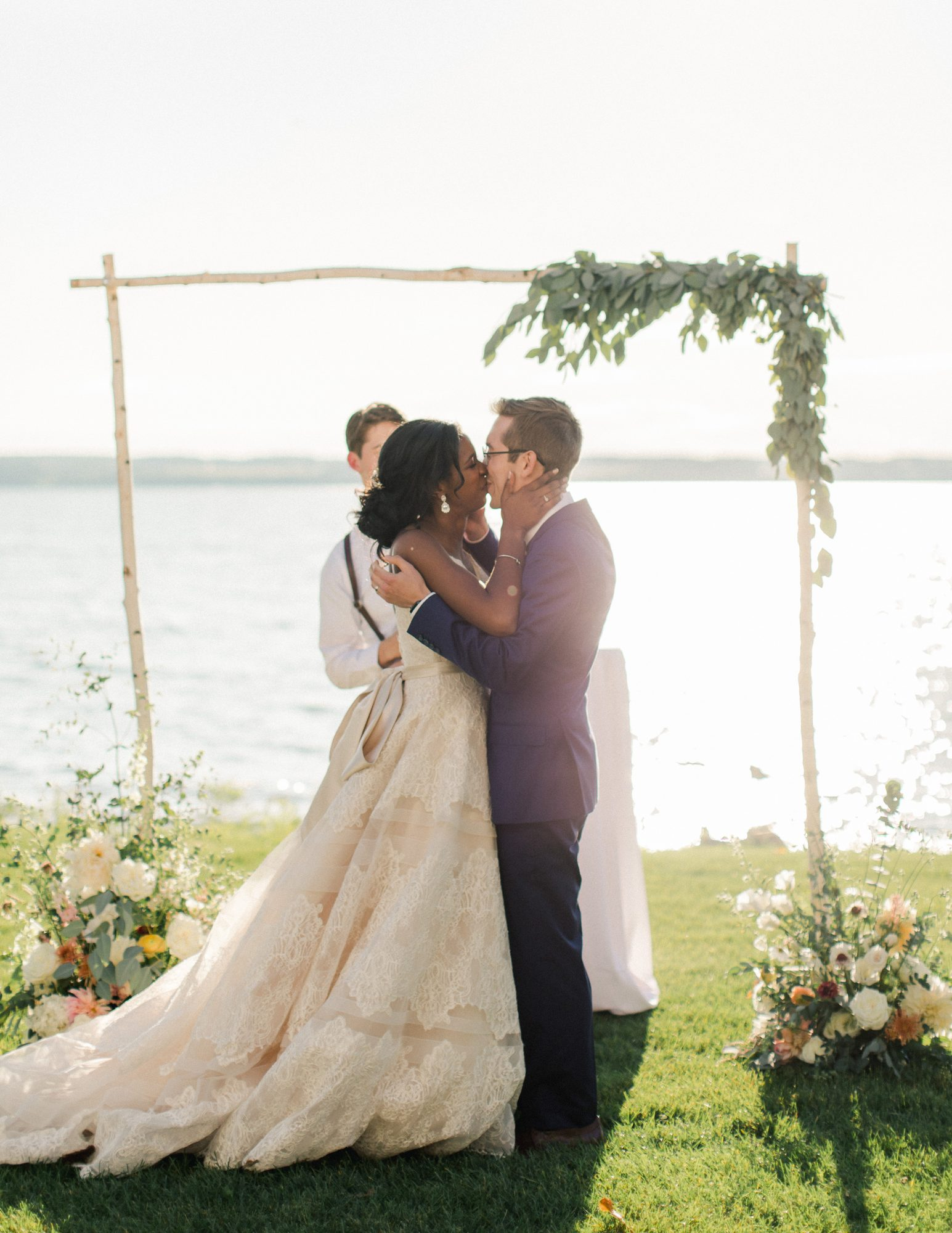 charlene jeremy wedding ceremony kiss