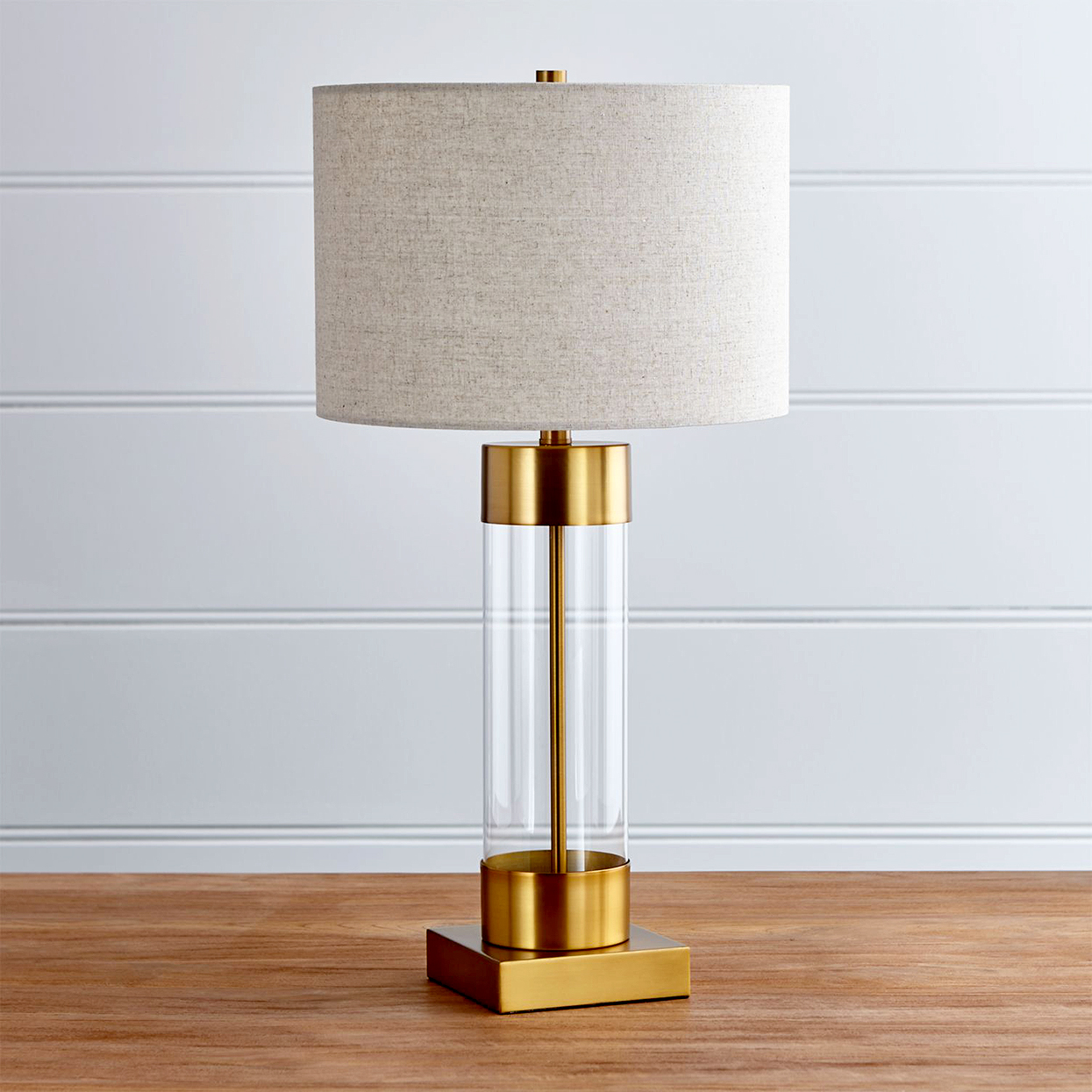 "CB2 ""Avenue"" Brass Table Lamp"