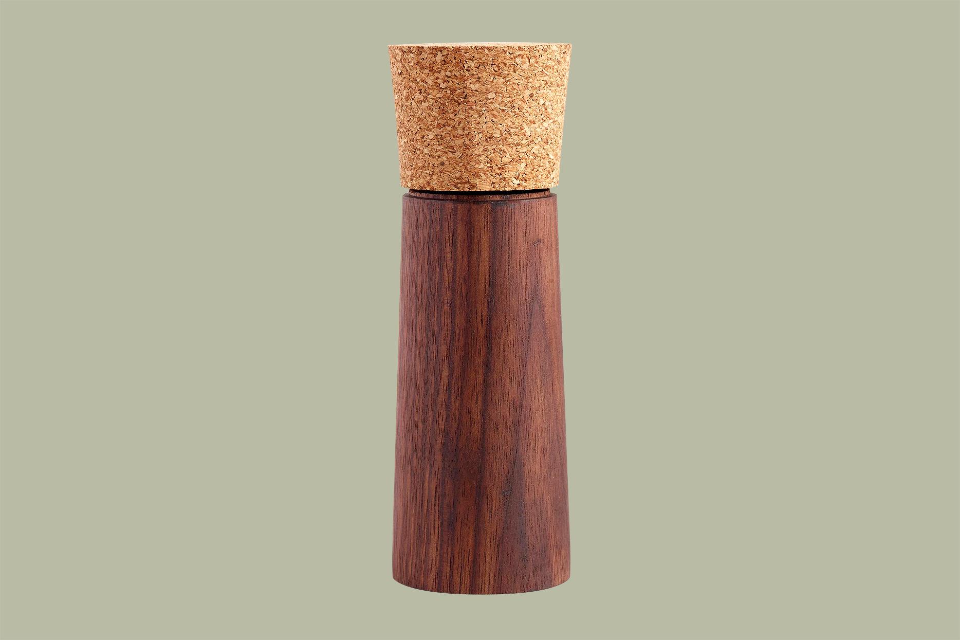 World Market Walnut Wood and Cork Salt and Pepper Grinder