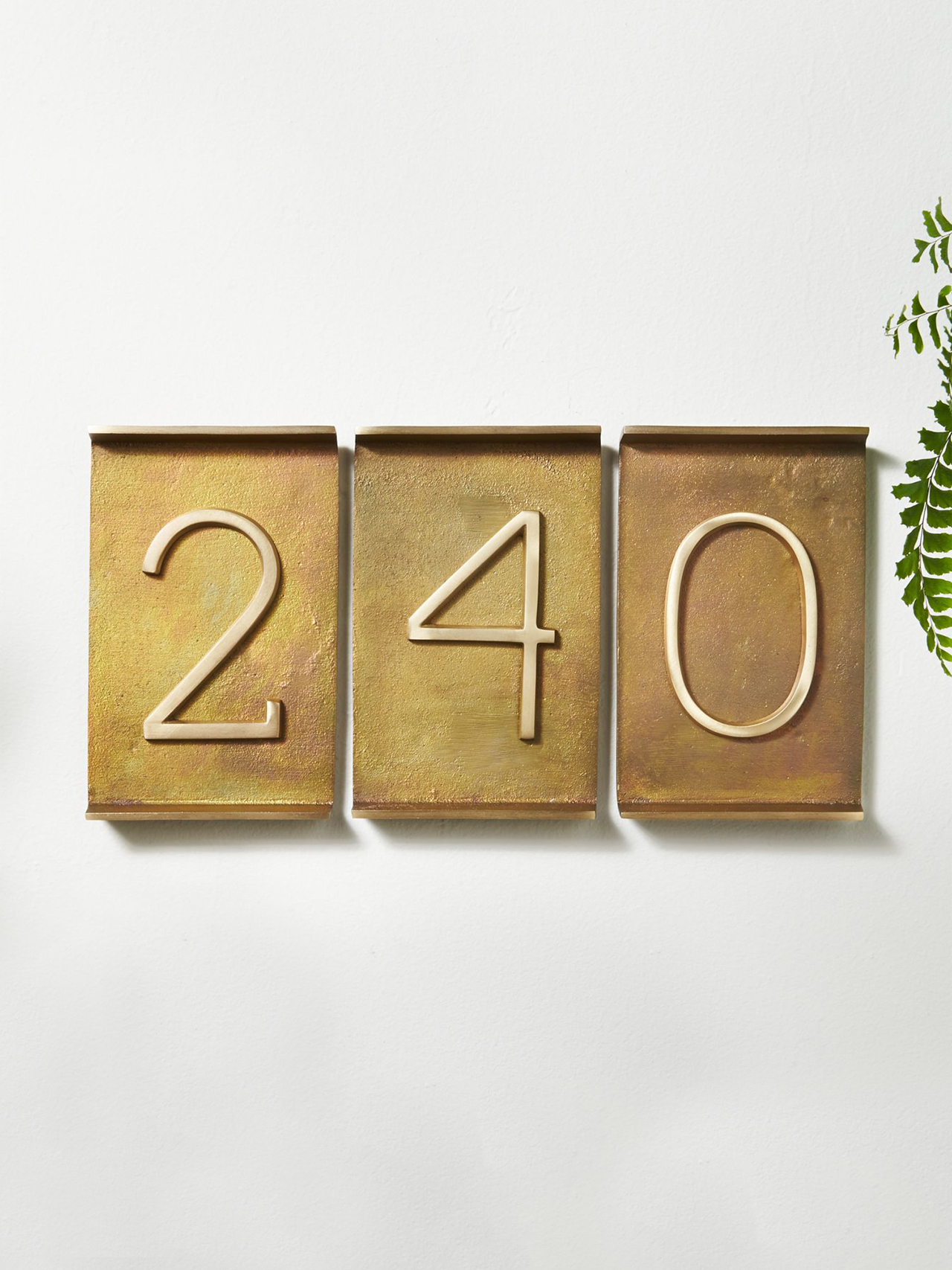 CB2 Rough Cast Brass House Numbers