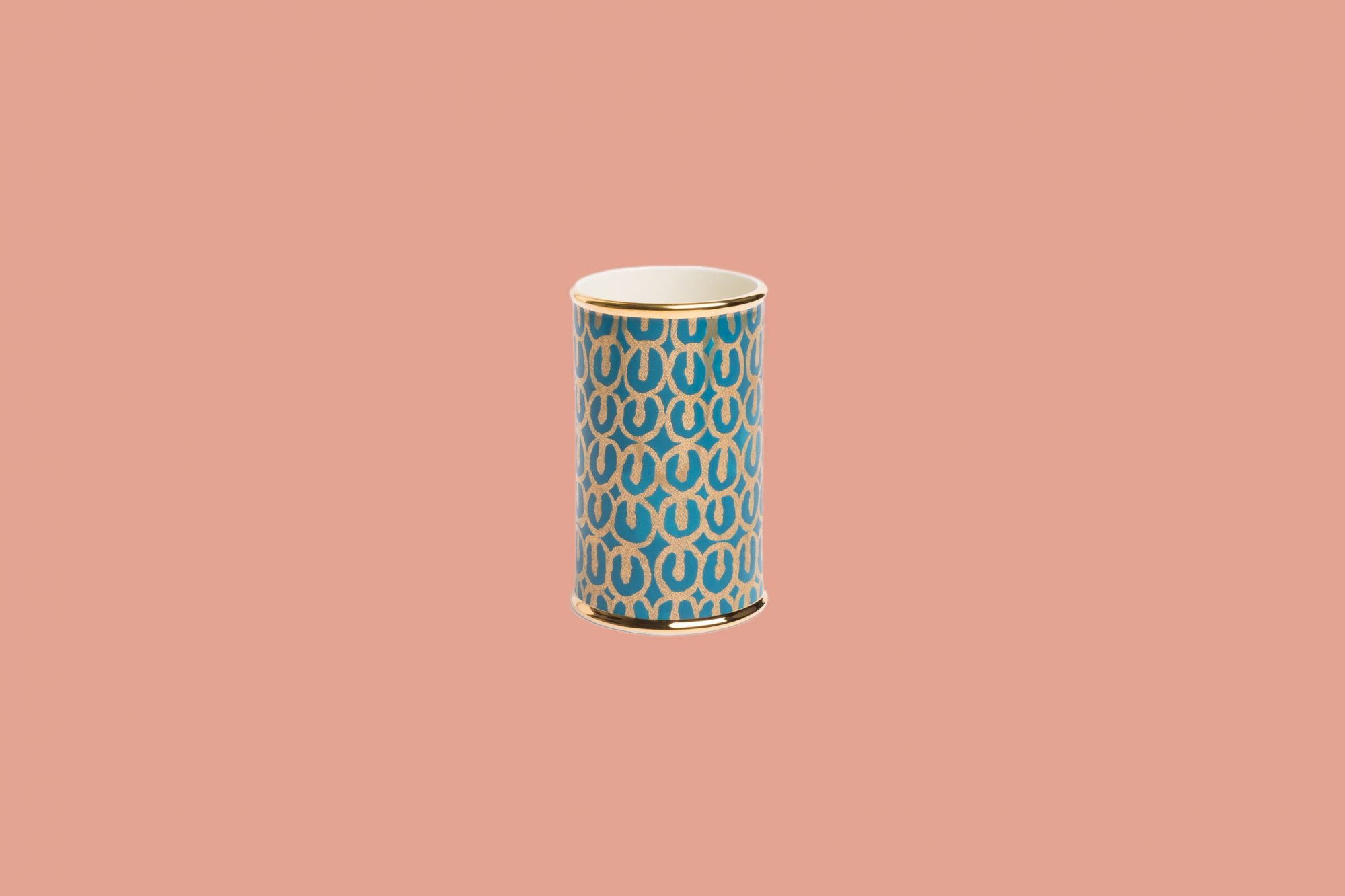 Teal and Gold Vase