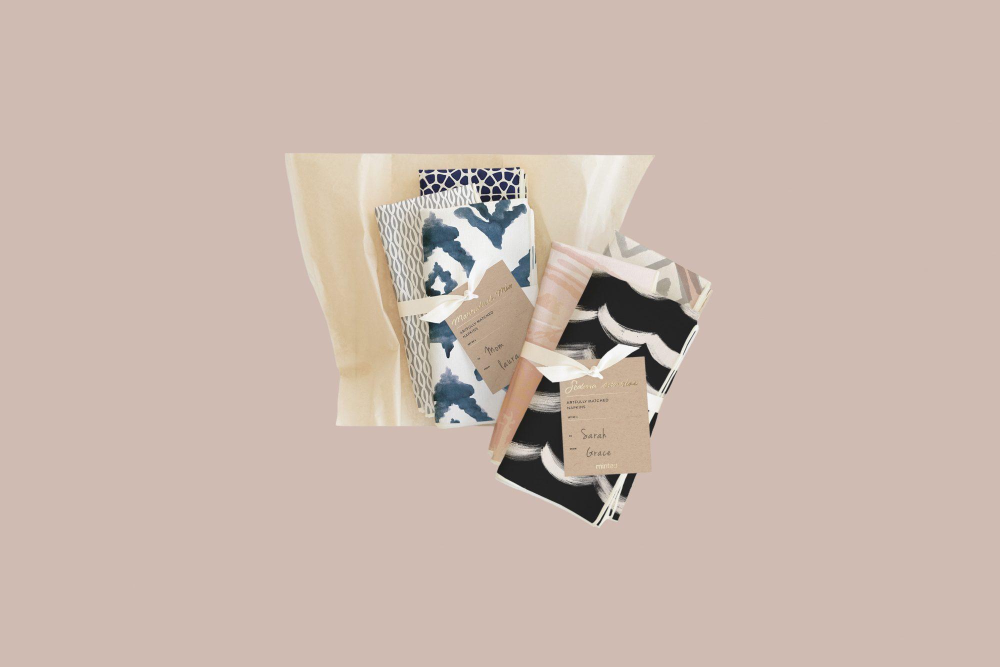 multi printed napkin set