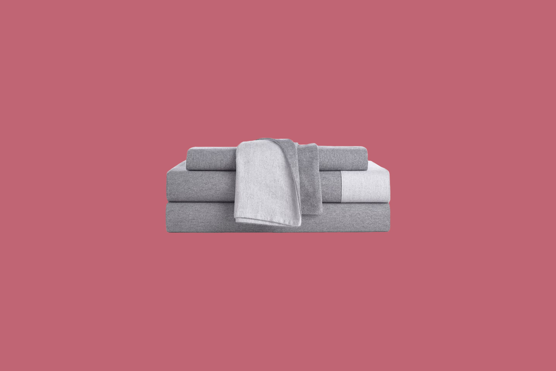 grey bed sheet set