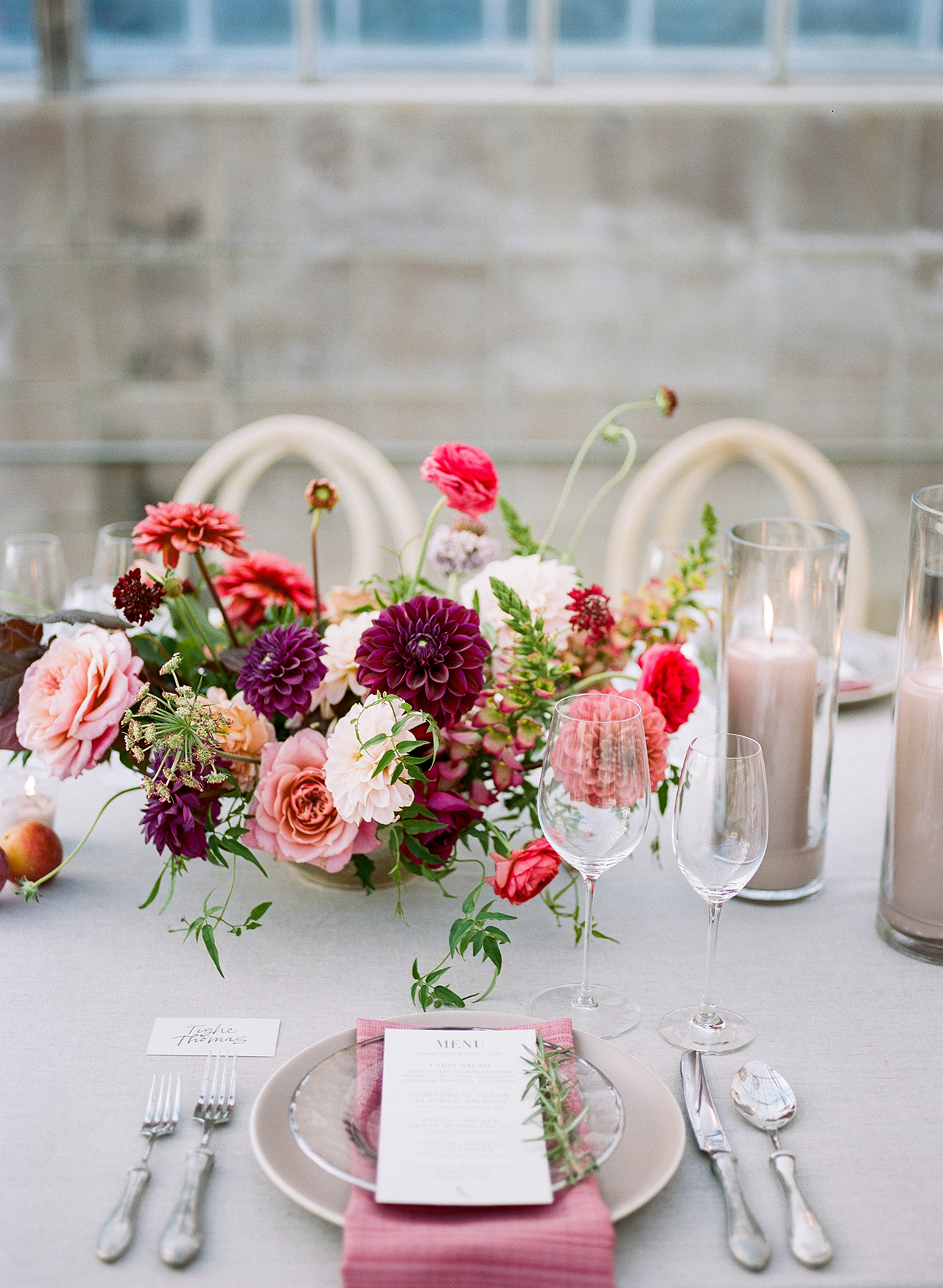 wedding reception floral centerpiece greenhouse