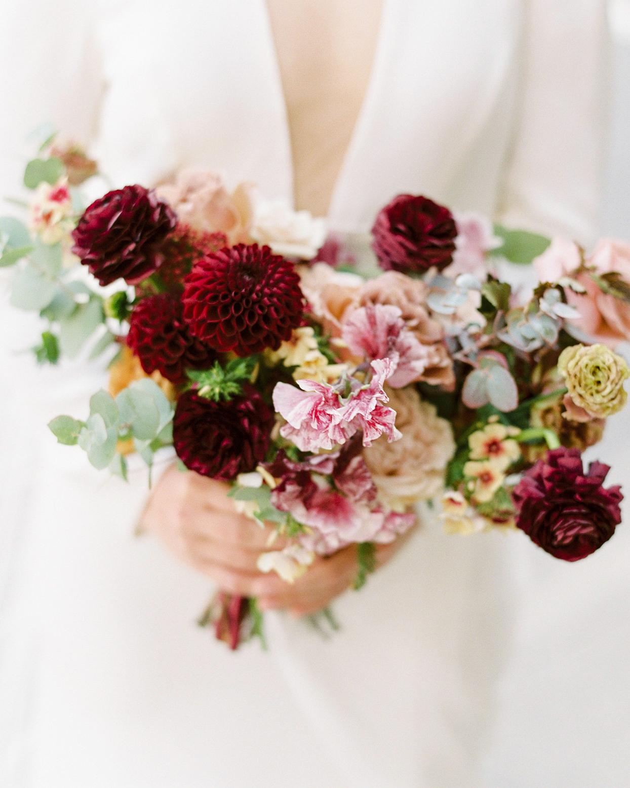 katie nicholas wedding bride's bouquet
