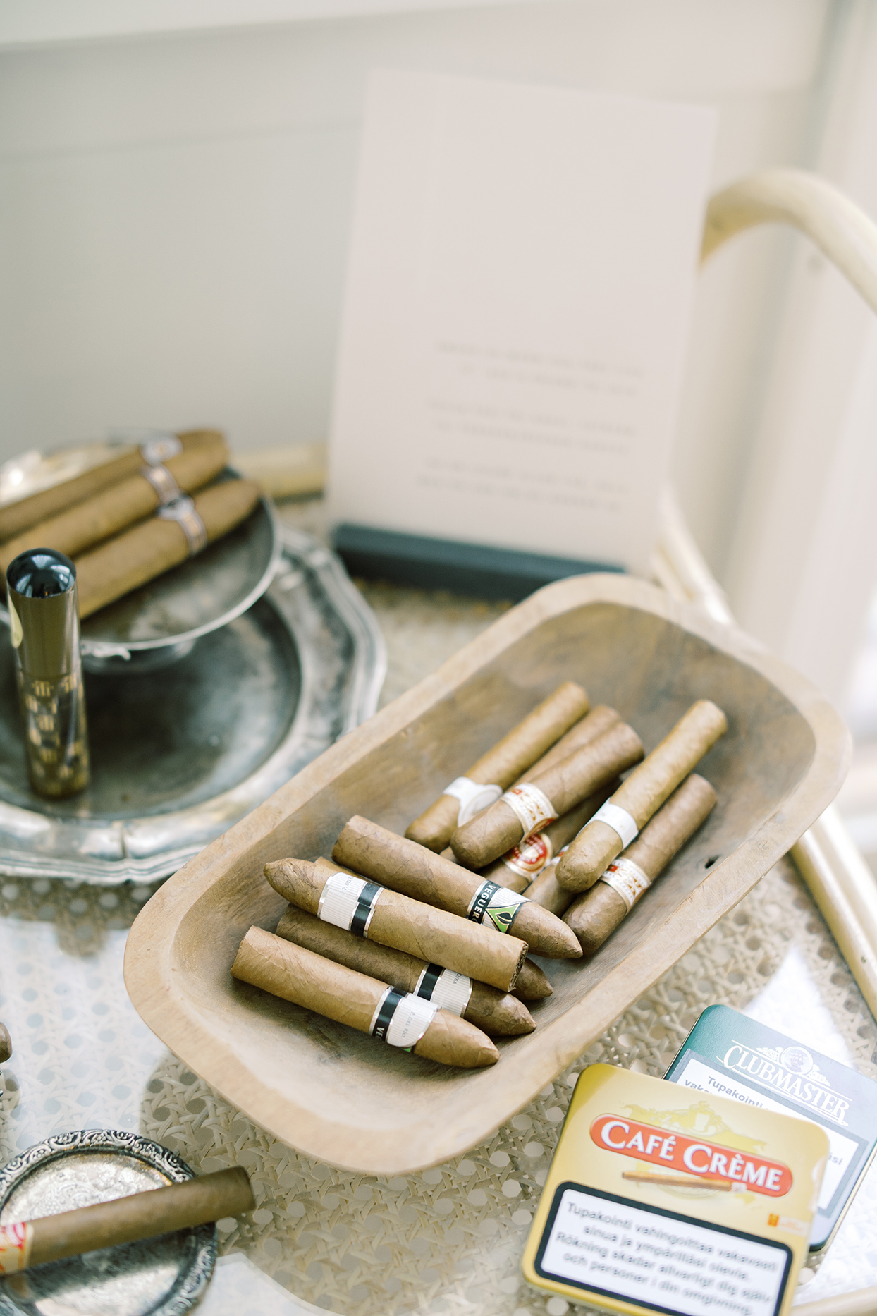 laura alexander wedding cigars