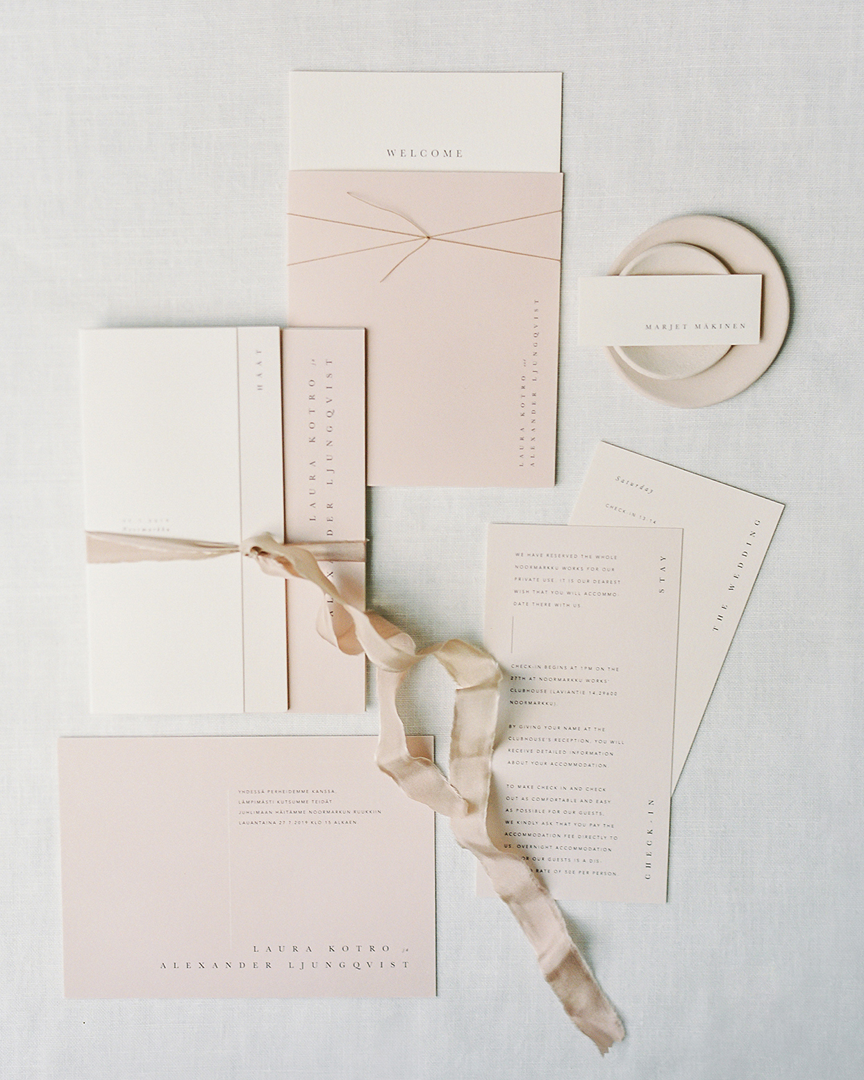 laura alexander mauve wedding invitations
