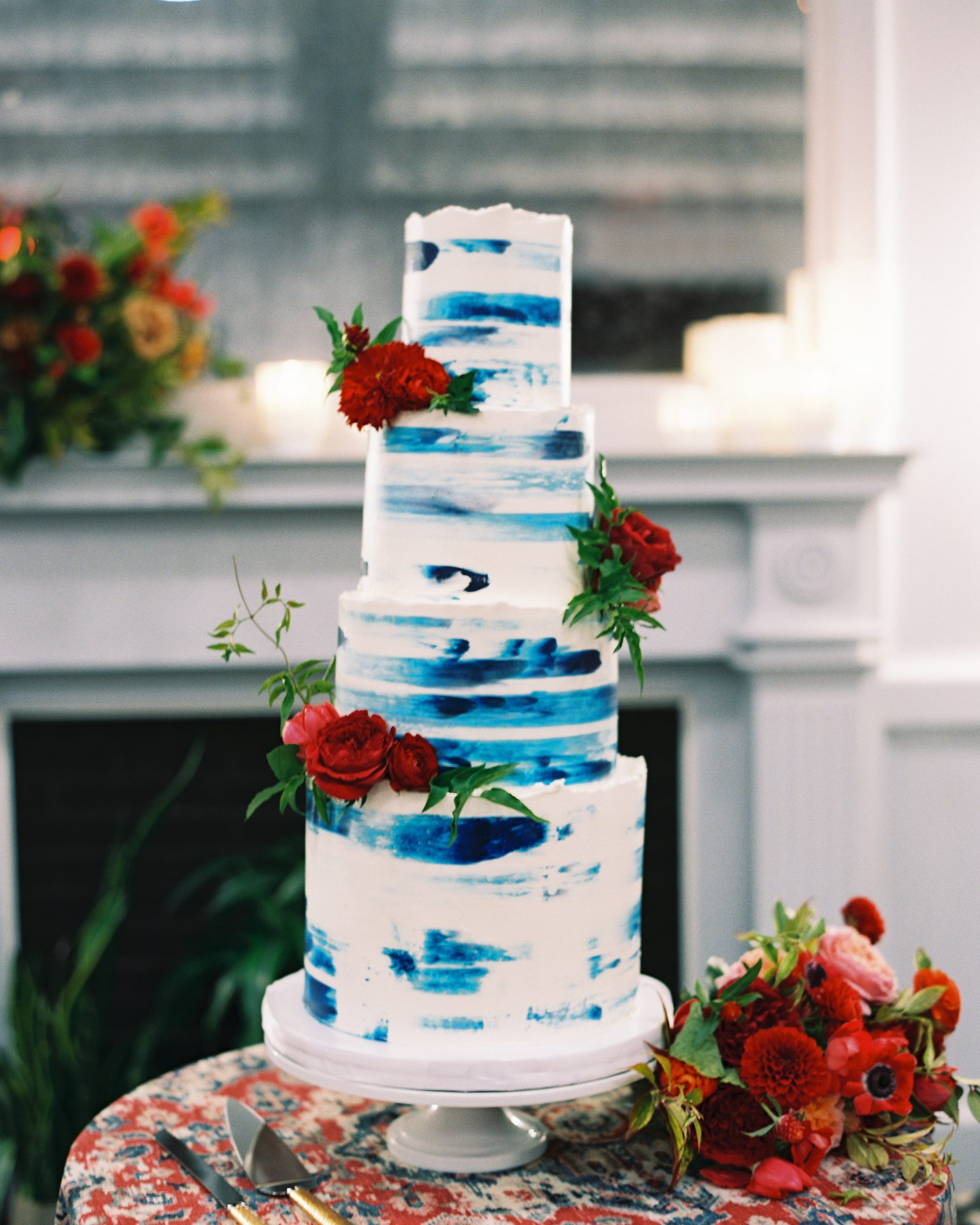 meaghan and david brushstroke wedding cake