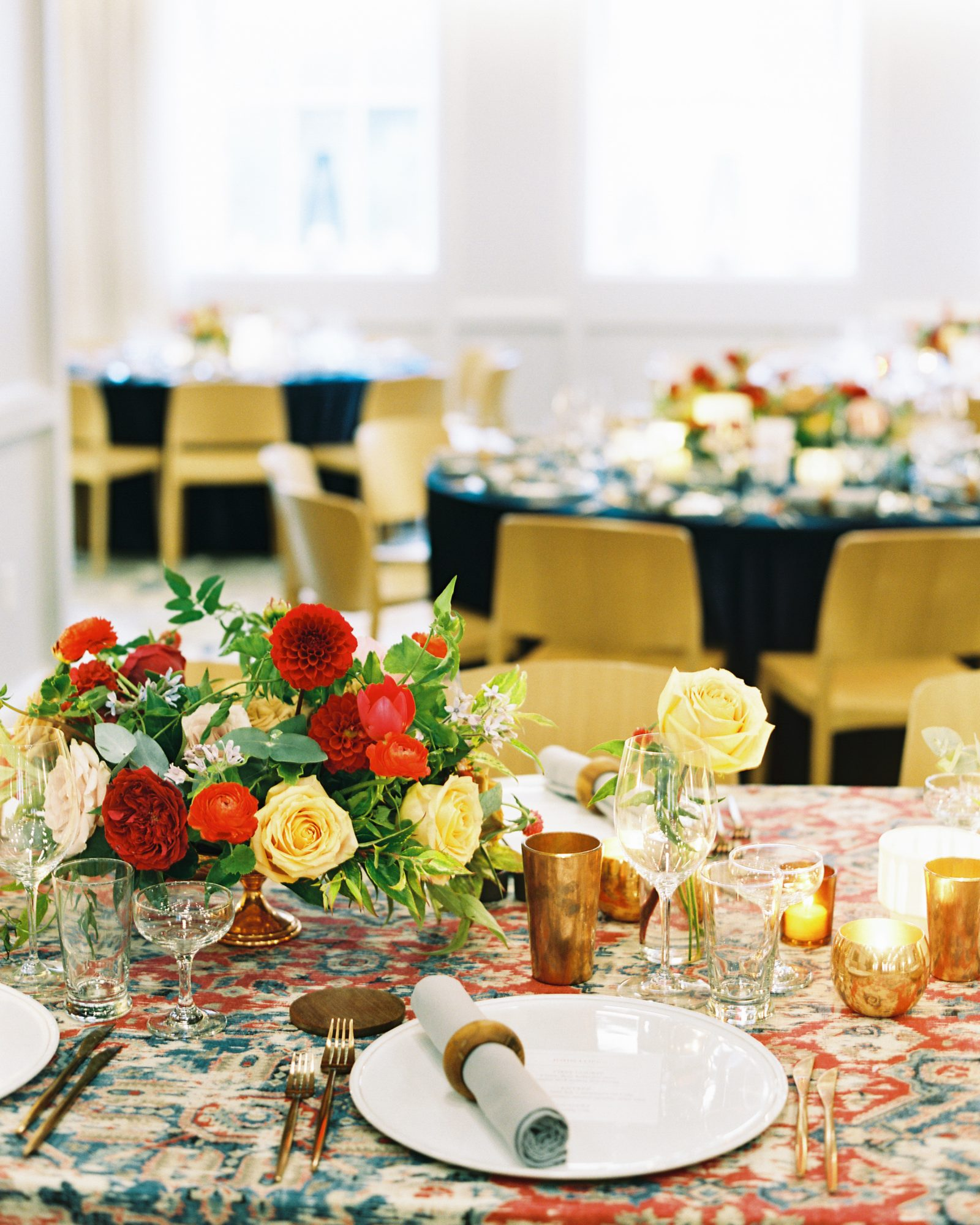 meaghan and david wedding reception tables statement linens