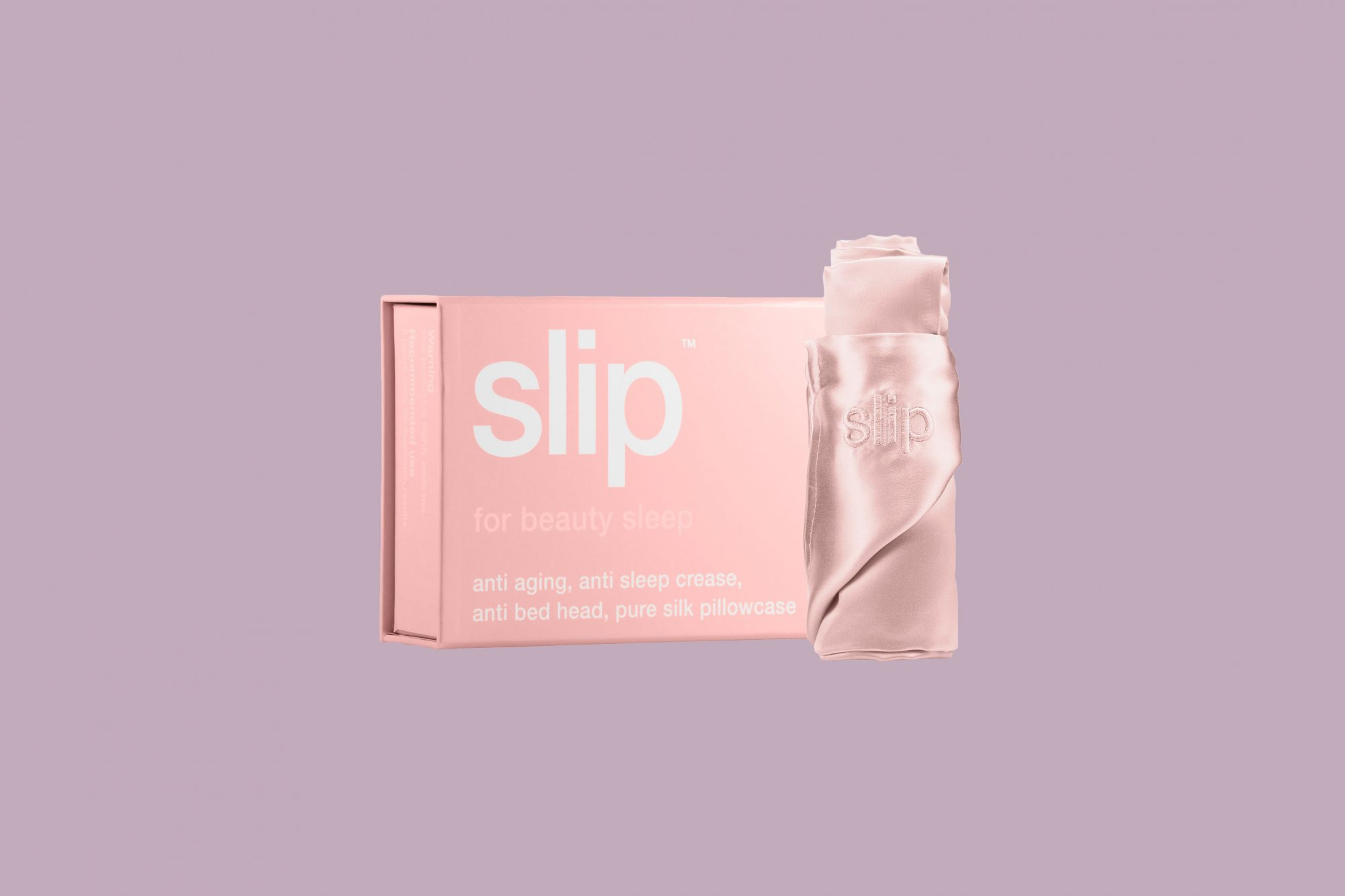 pink silk pillow case