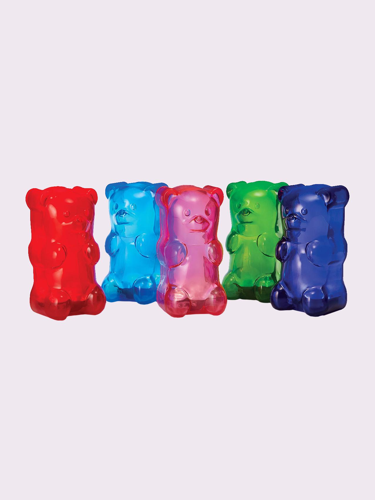 row of gummy bears