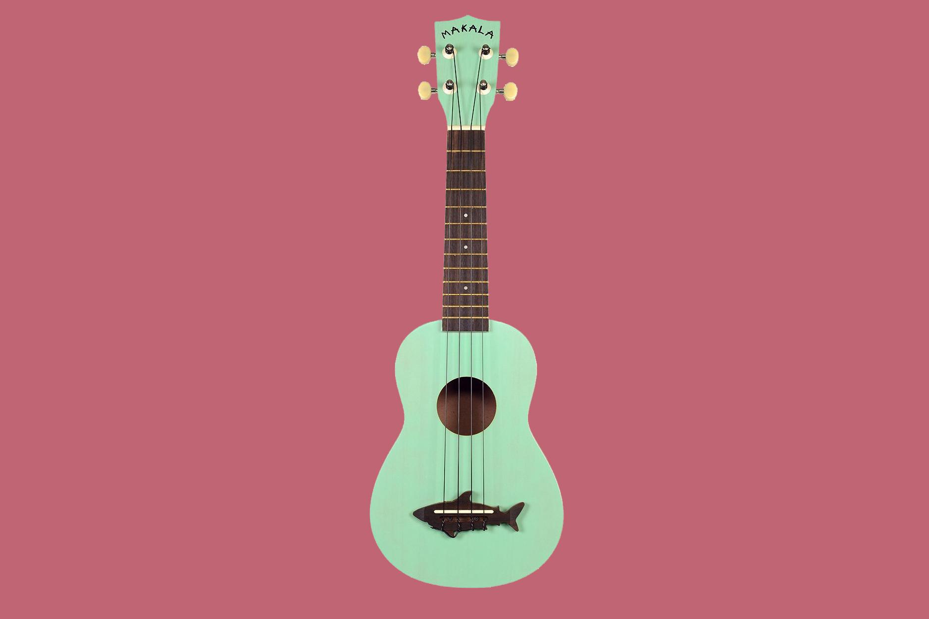 mint green shark ukulele