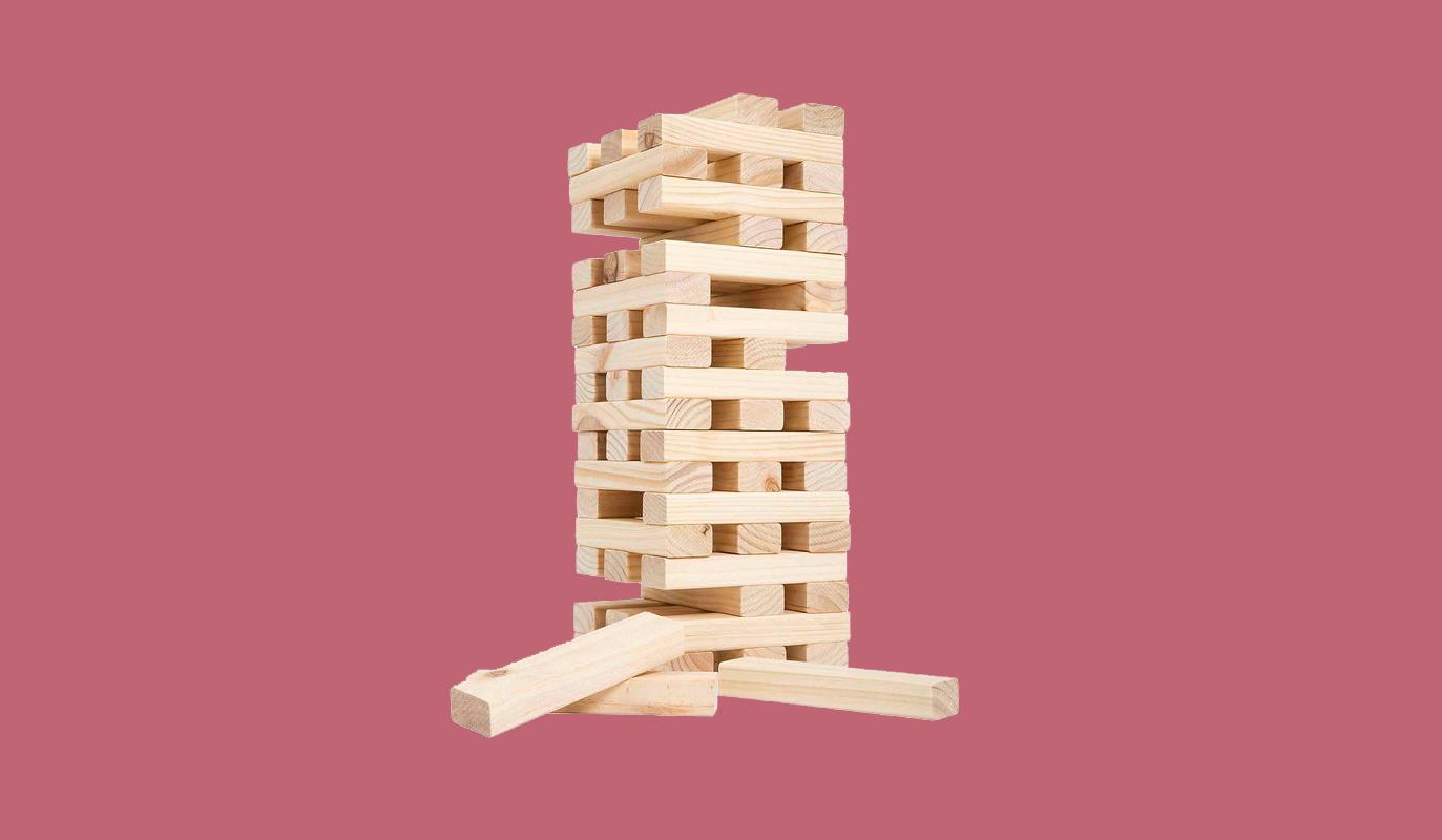 wooden jenga set