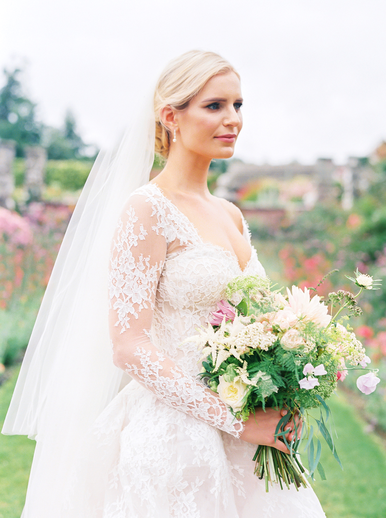 multi floral and greenery wedding bouquet