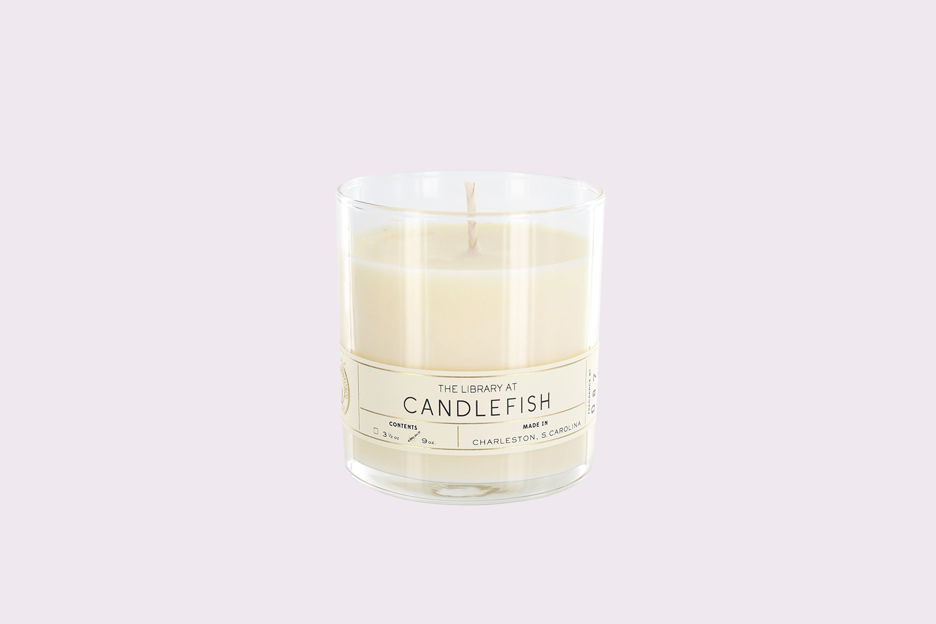 candlefish candle in glass jar